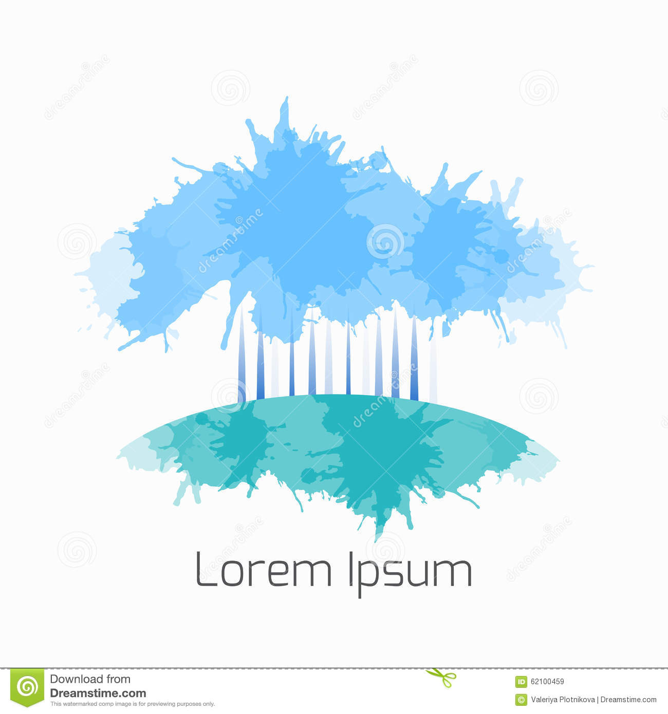 vector winter trees of splashes for the logo flyers stock vector vector winter trees of splashes for the logo flyers