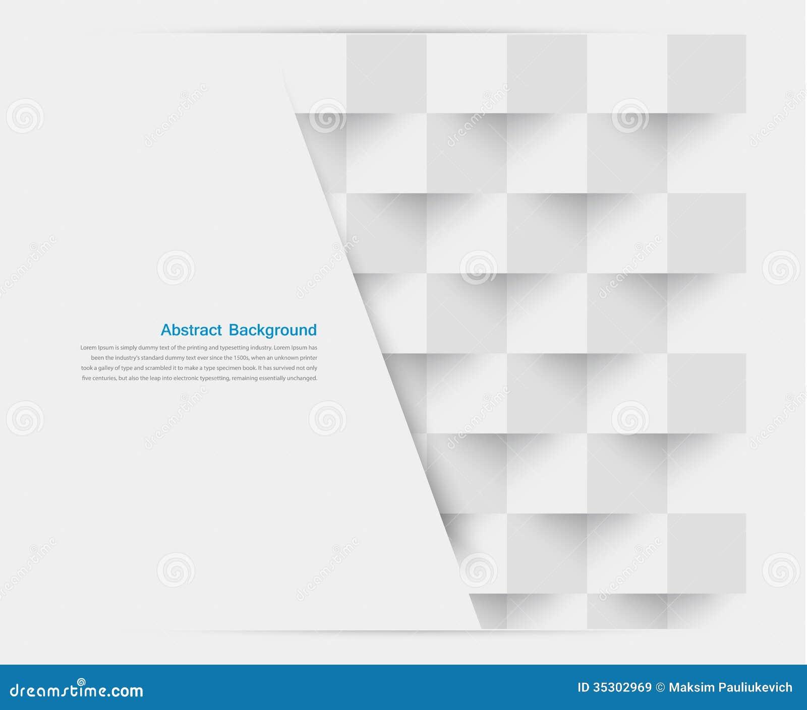 Vector witte vierkanten. Samenvatting backround