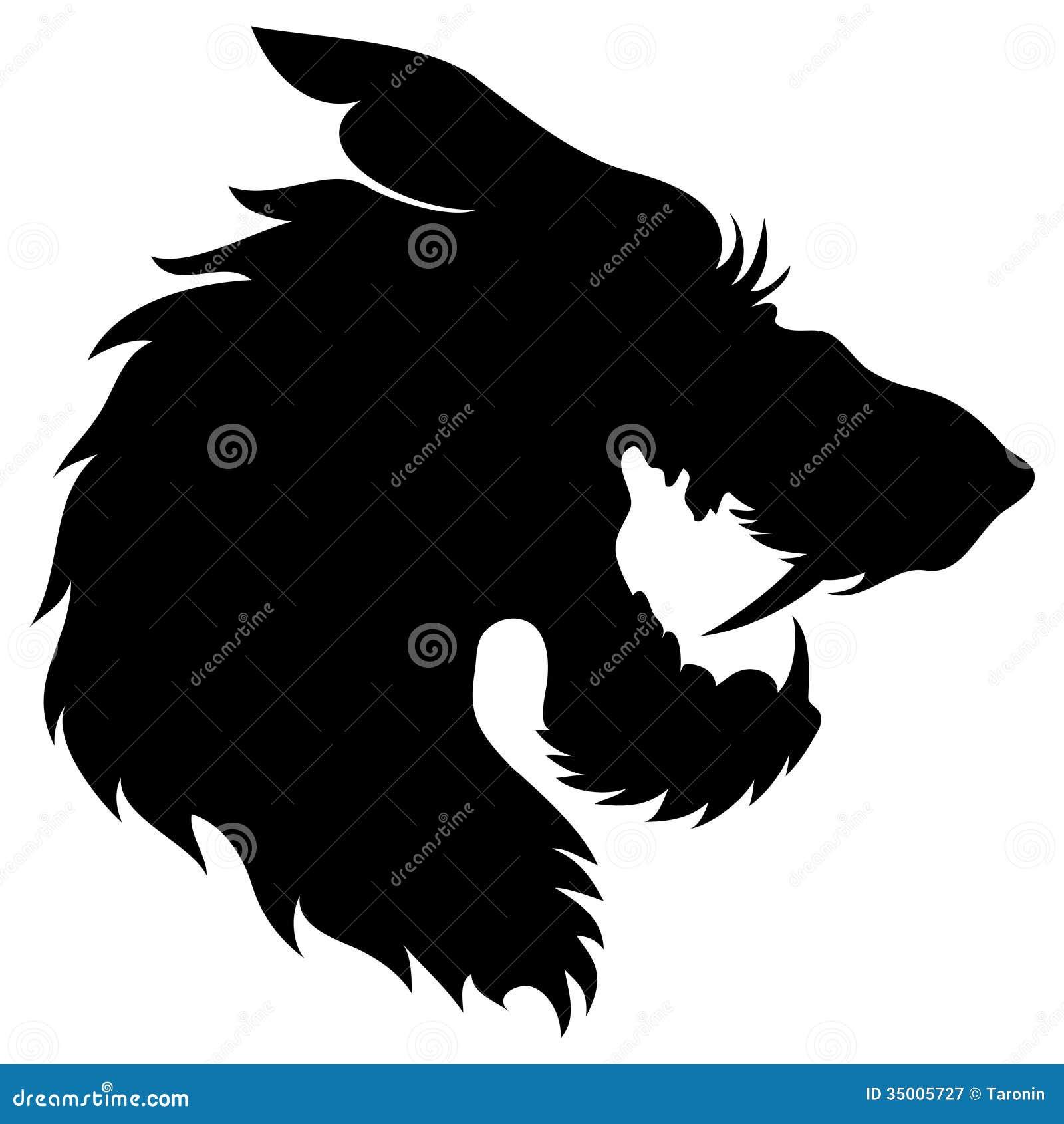 Vector. Wolf head silhouette.