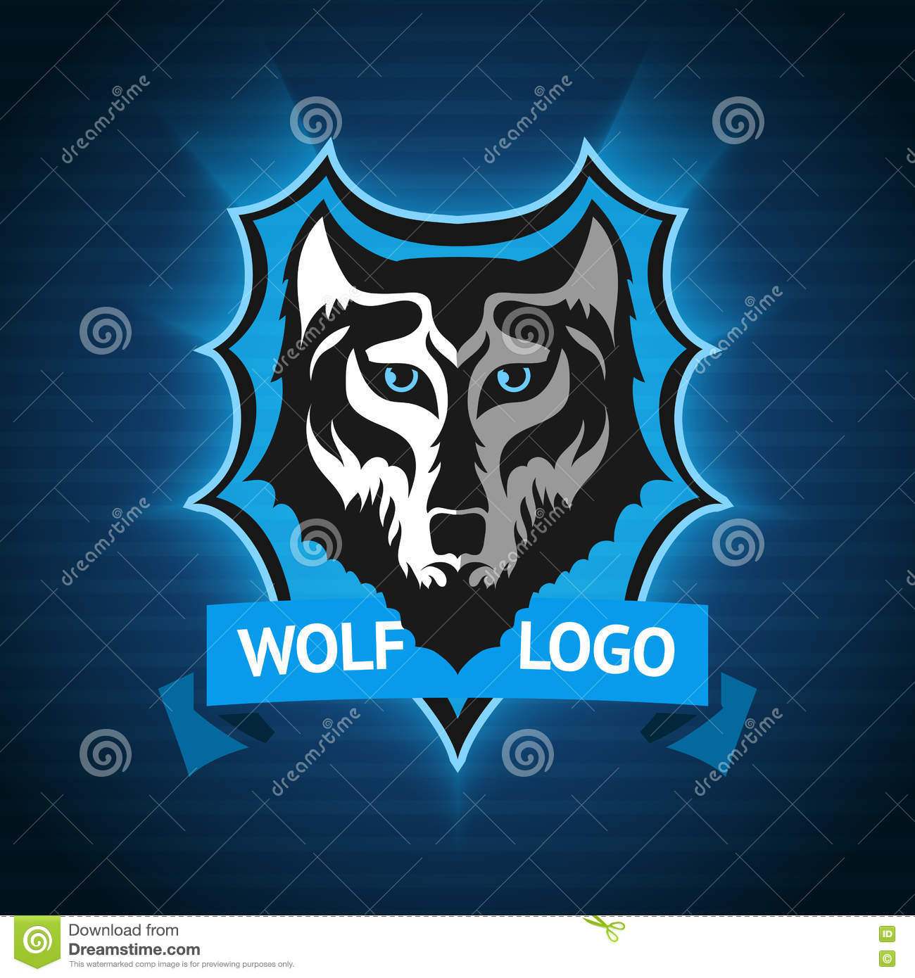 vector wolf logo  badge template for sport teams  business