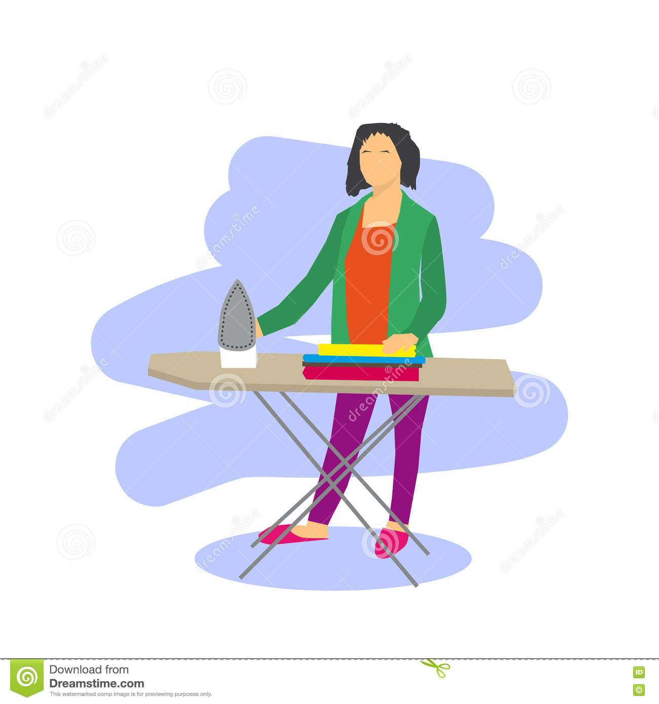 To Iron Clothes Clipart