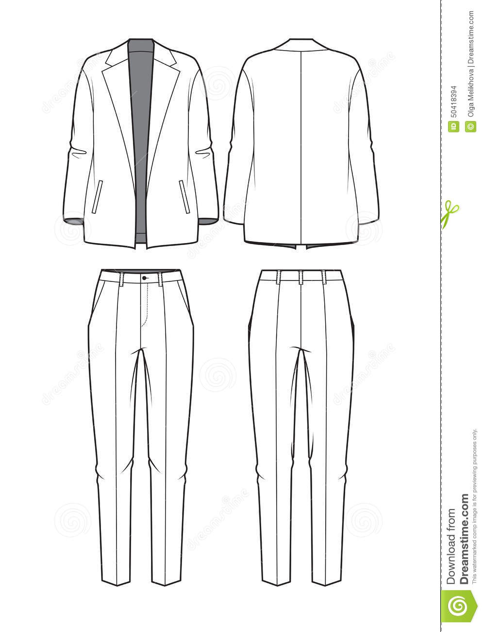 Lastest Pants Stock Vector  Image 54341697