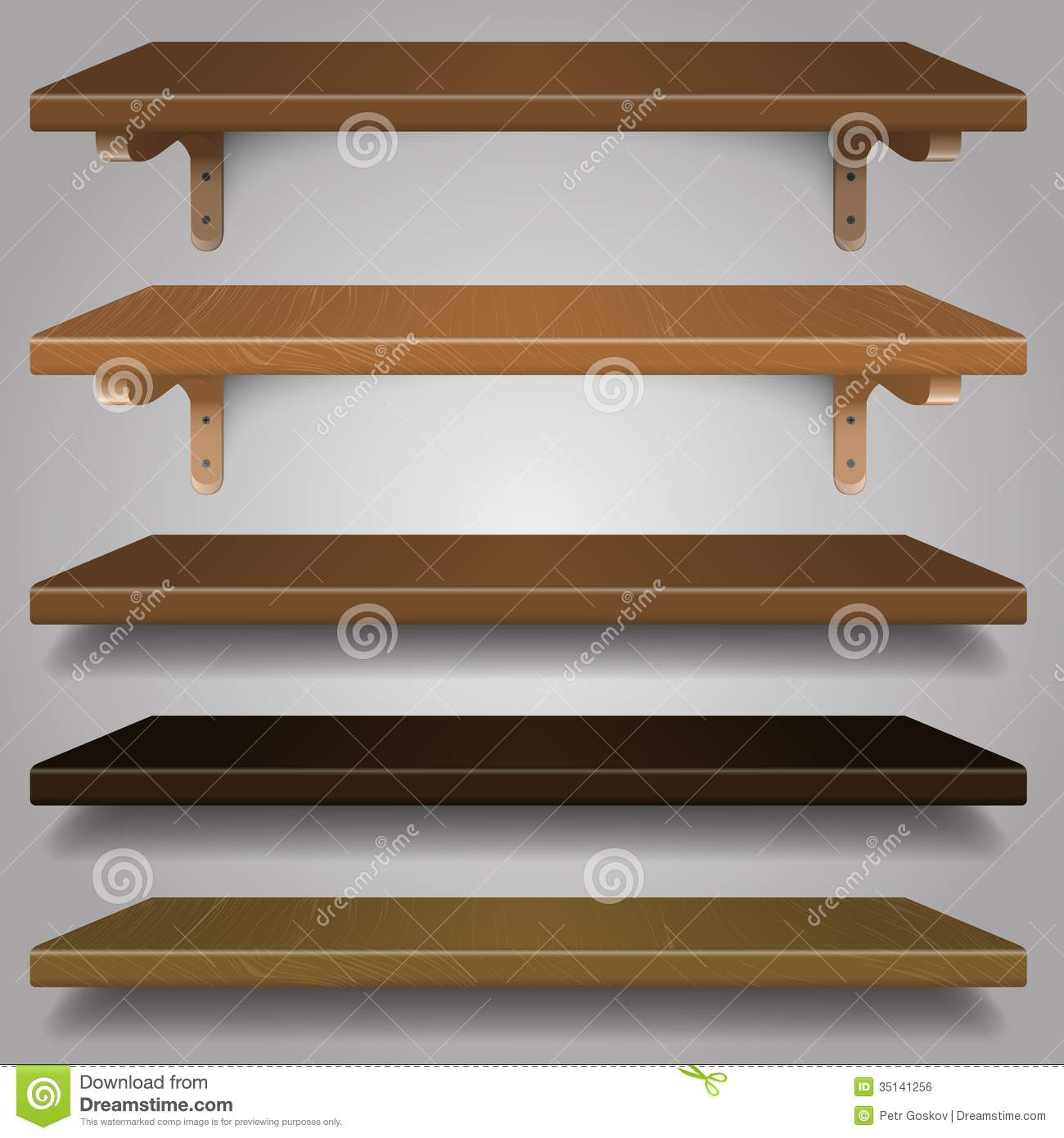 Vector - Wood Shelves, Royalty Free Stock Image - Image ...