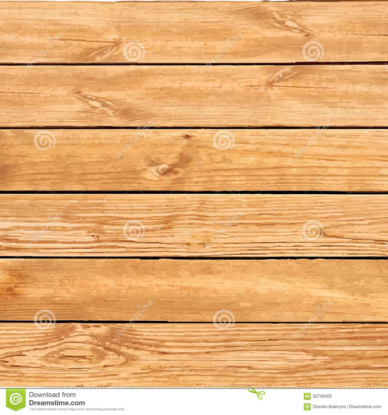 Vector wood texture with horizontal stripes.