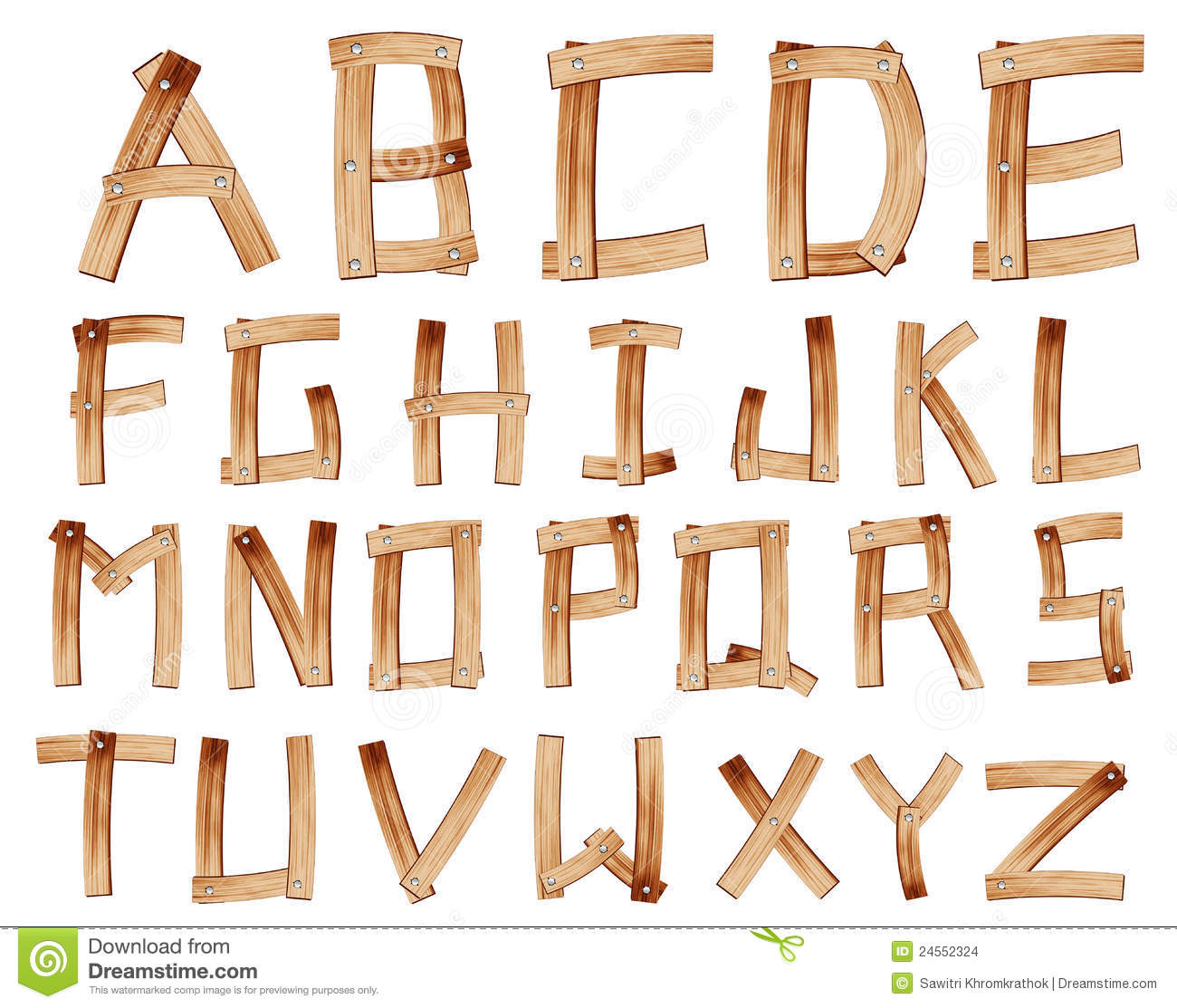 wooden alphabet letters vector wooden alphabet stock vector illustration of 25669