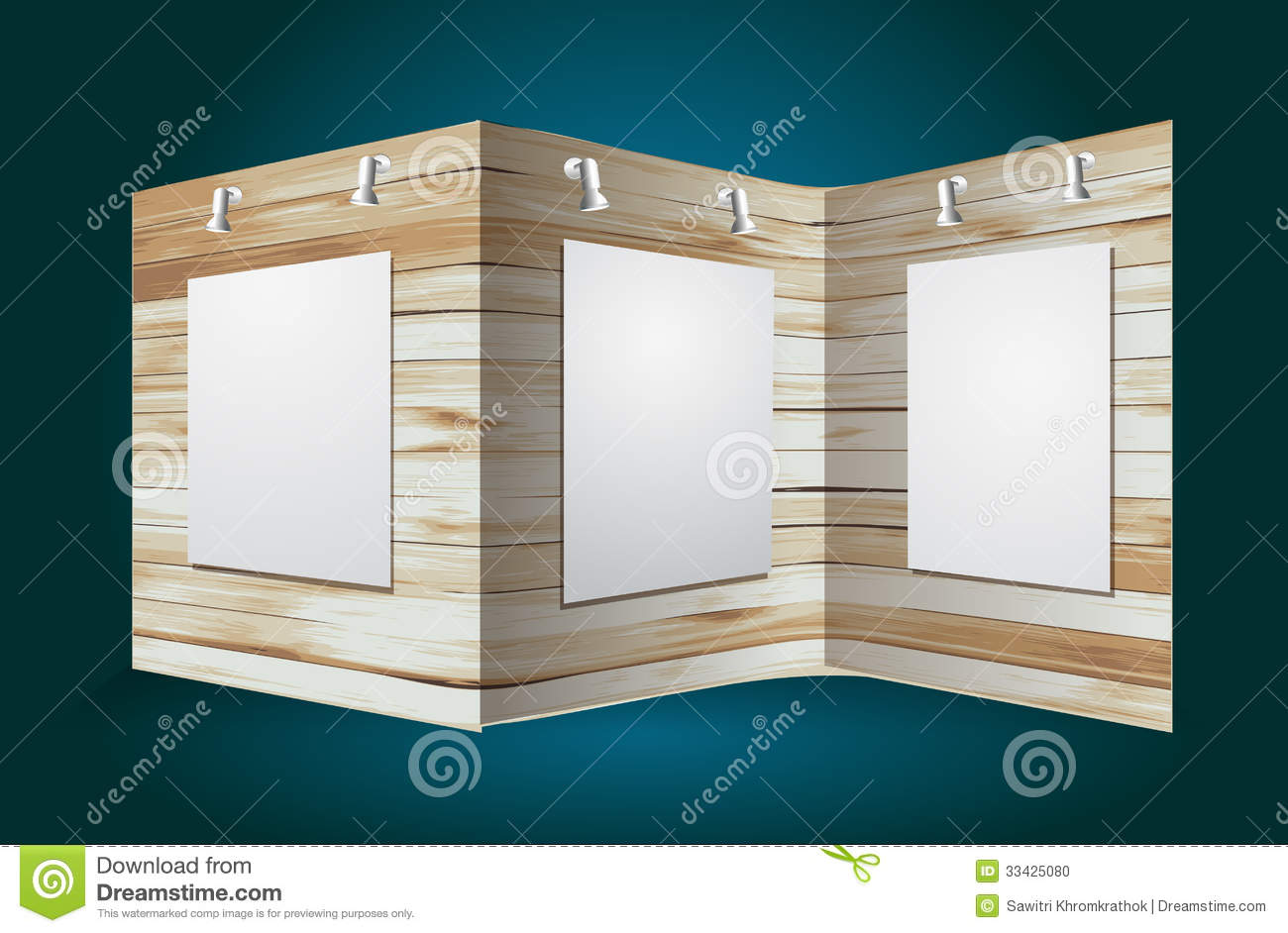 Exhibition Stand Wood : Vector wooden exhibition stand stock photo image
