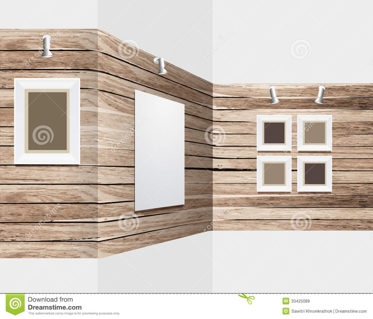Modern Exhibition Stand Vector : Vector wooden exhibition stand royalty free stock images