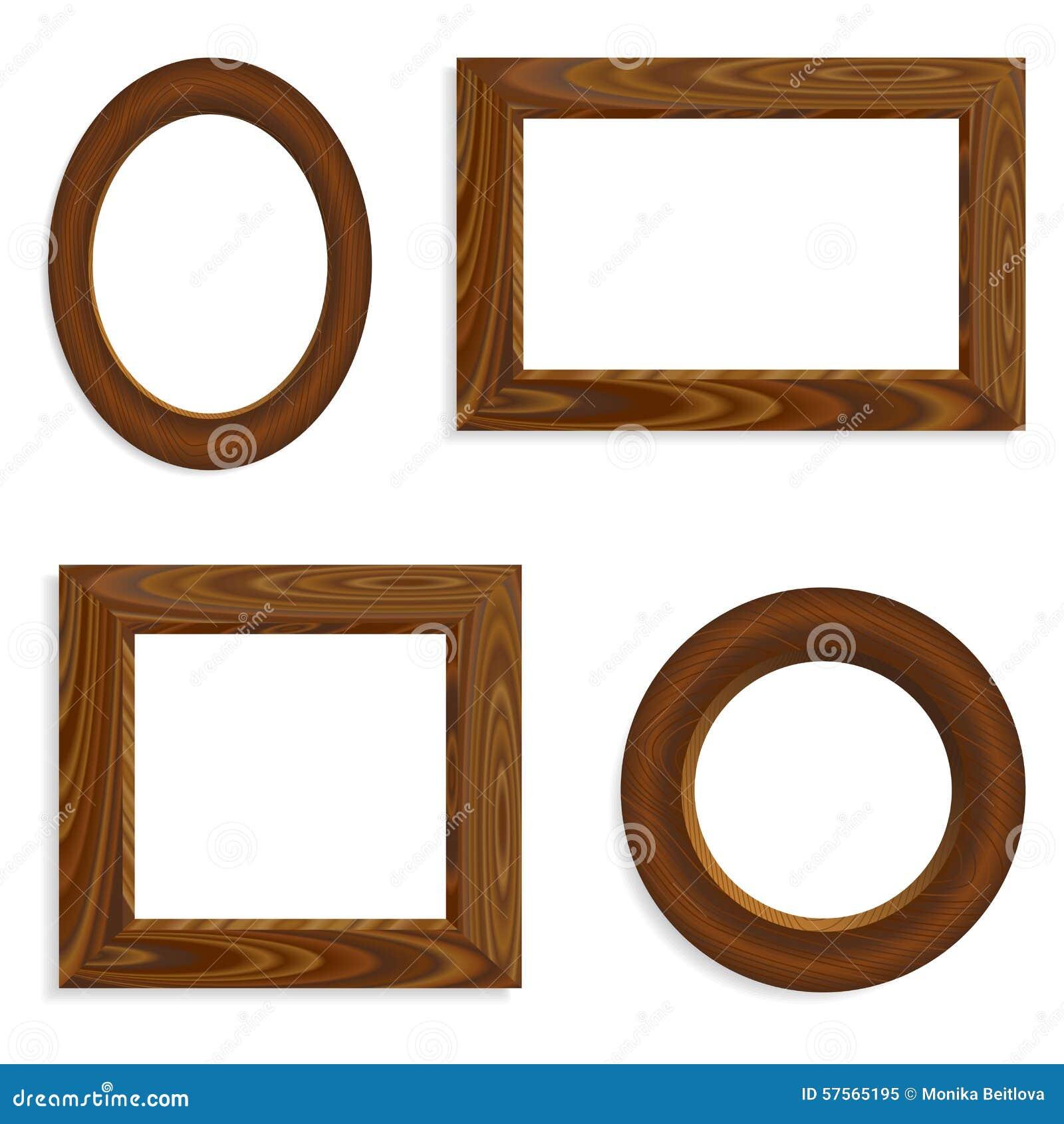 Wood frames set free vector - Royalty Free Vector