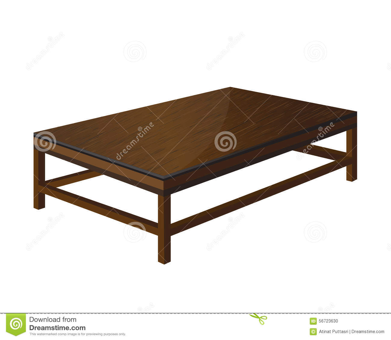 Vector wooden tables design stock vector image 56723630 for Table design vector