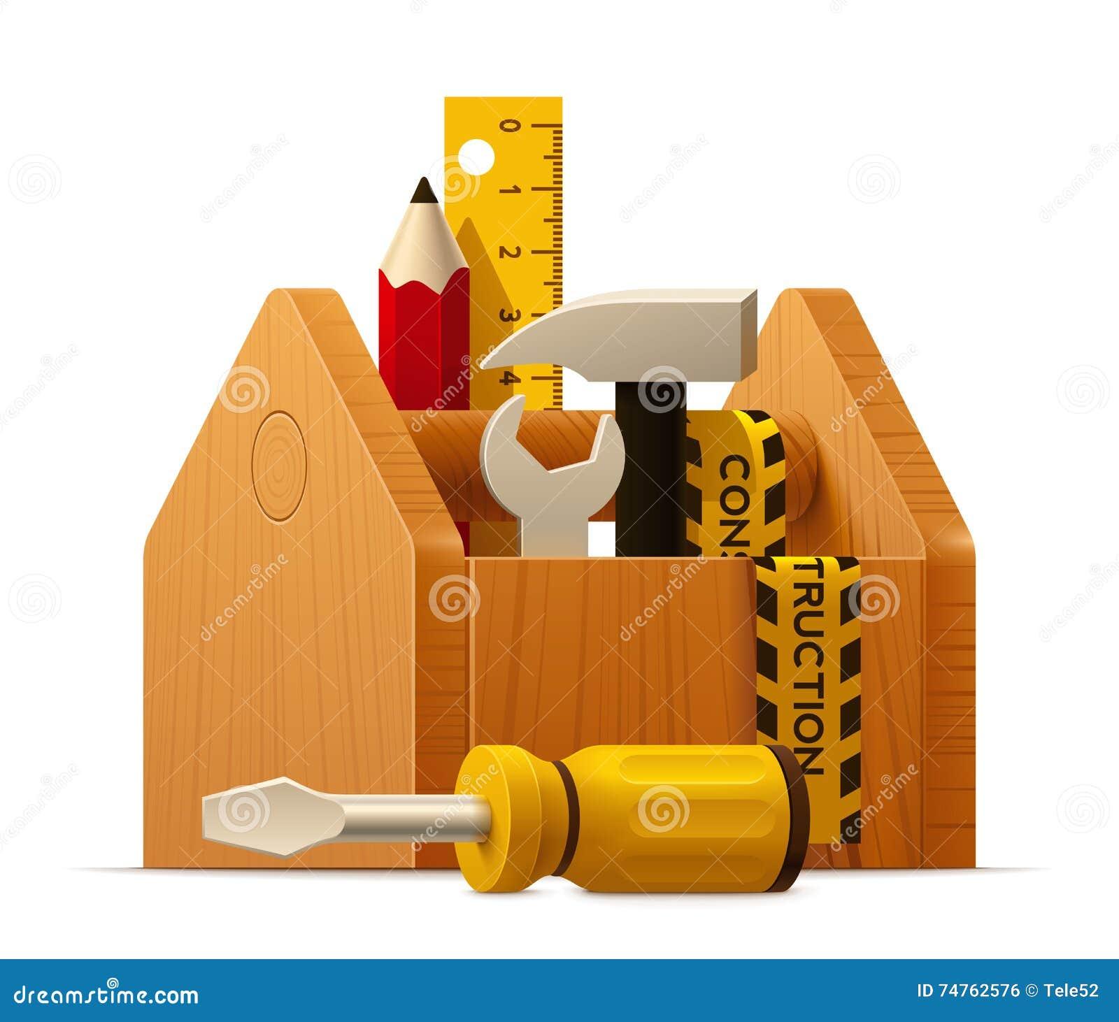toolbox icon. royaltyfree vector toolbox icon