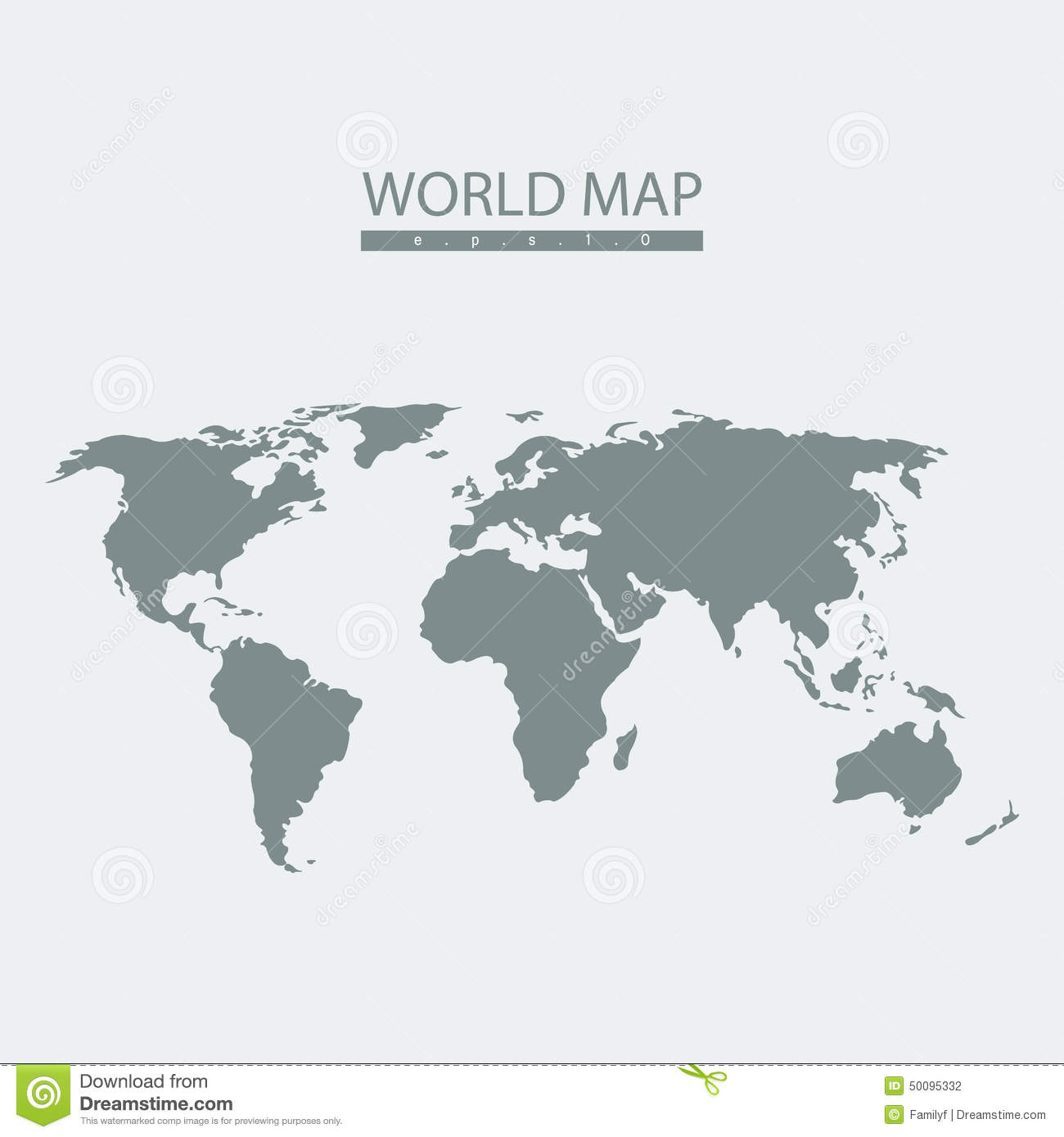 Vector world map atlas. continent mainland infographics.Flat graphics ...