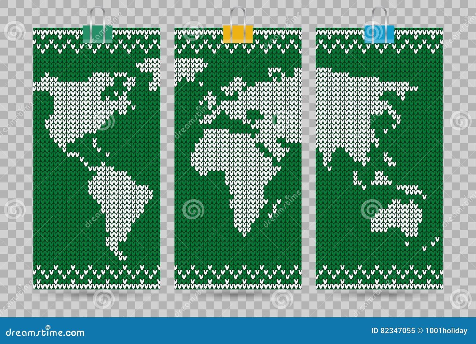 Vector world map business cards set green knitting style stock vector world map business cards set green knitting style magicingreecefo Image collections
