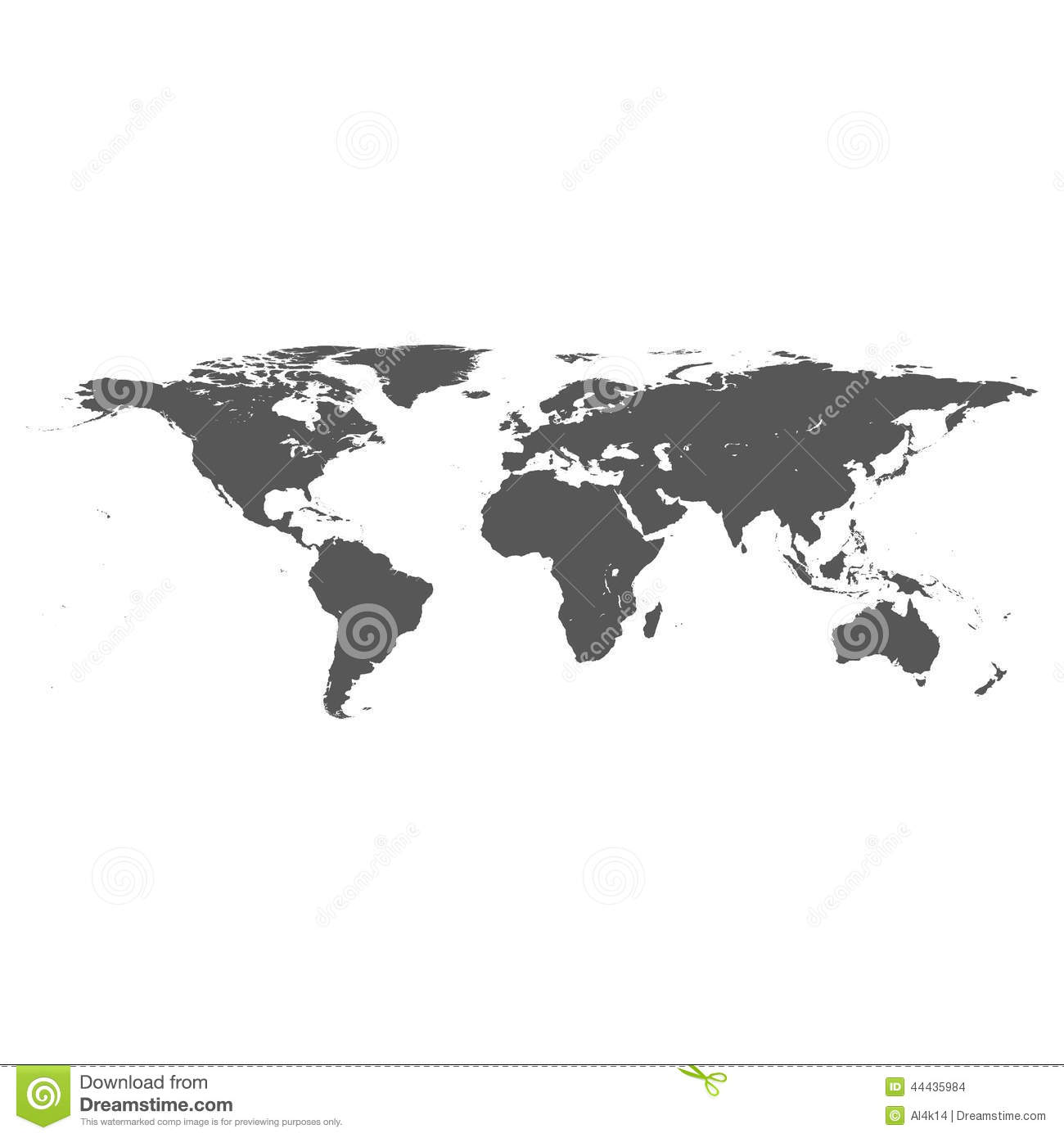 Vector world map stock vector illustration of world 44435984 vector world map gumiabroncs Images