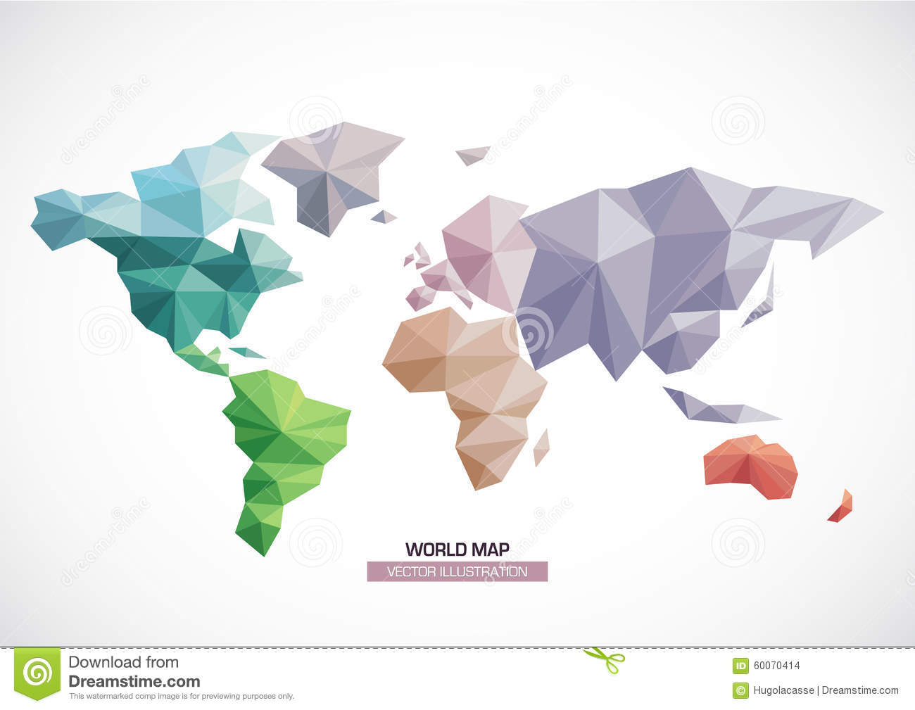 Vector world map design triangle pattern stock vector illustration vector world map design triangle pattern stock vector illustration of paper communication 60070414 gumiabroncs Images