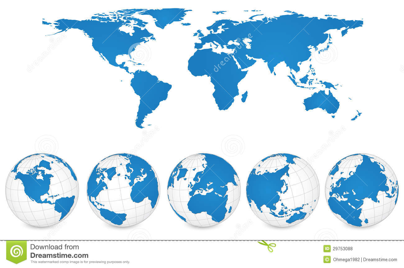3d vector world map stock illustration illustration of shadow world map and globe detail vector illustration royalty free stock photos gumiabroncs Image collections