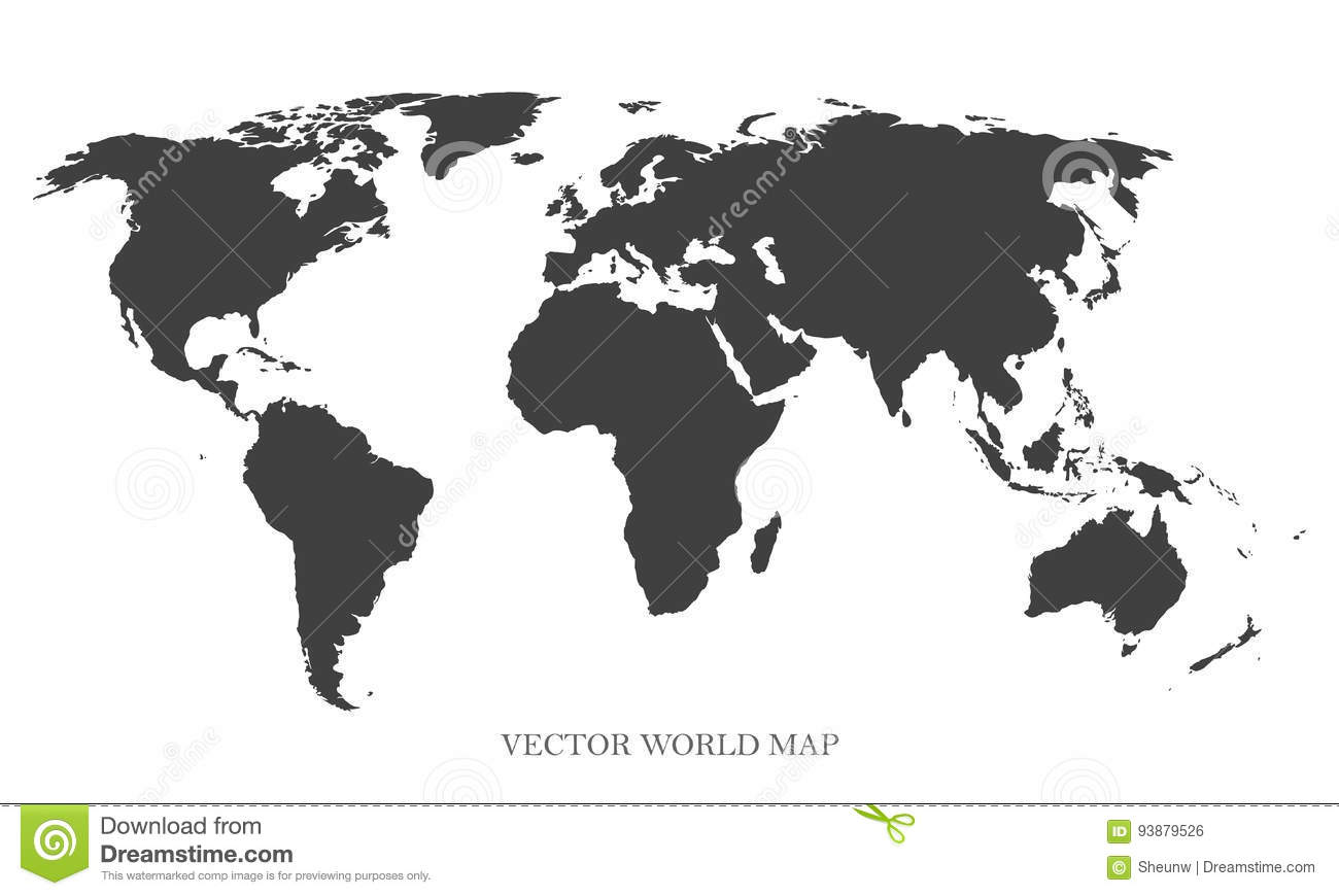 Picture of: Vector World Map Gray Concept Can Be Used Like Template For Your Design Stock Vector Illustration Of Isolated Cartography 93879526
