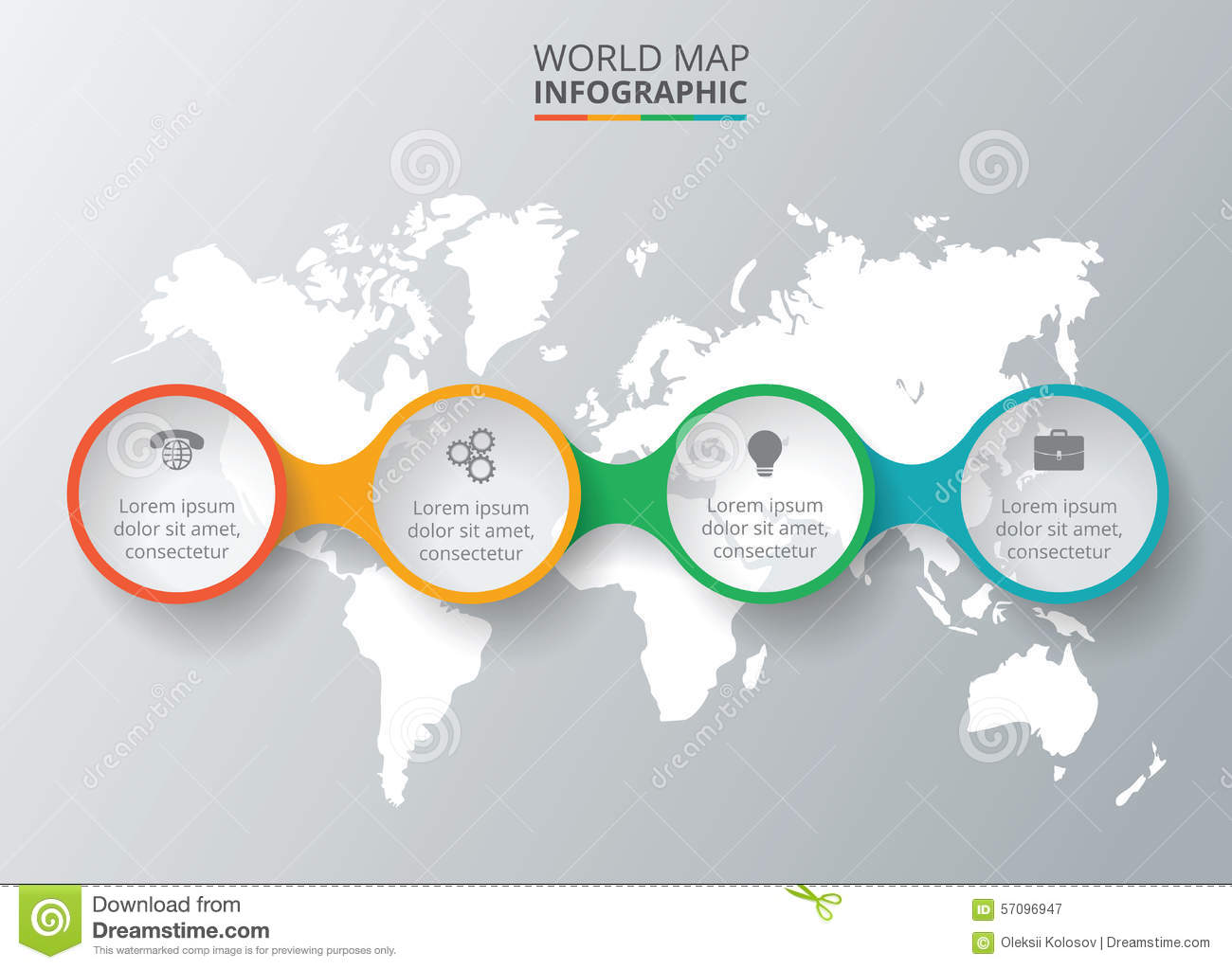 Vector world map with infographic elements stock vector image vector world map with infographic elements gumiabroncs Choice Image