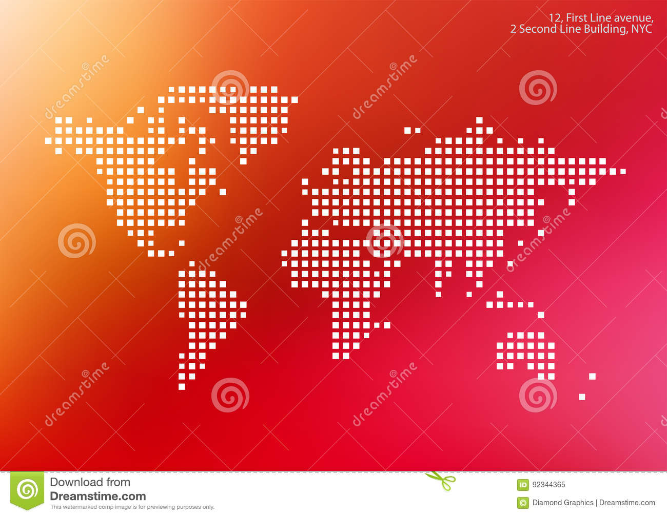 Vector world map with squares rectangles for business templates royalty free vector download vector world map with squares gumiabroncs Image collections