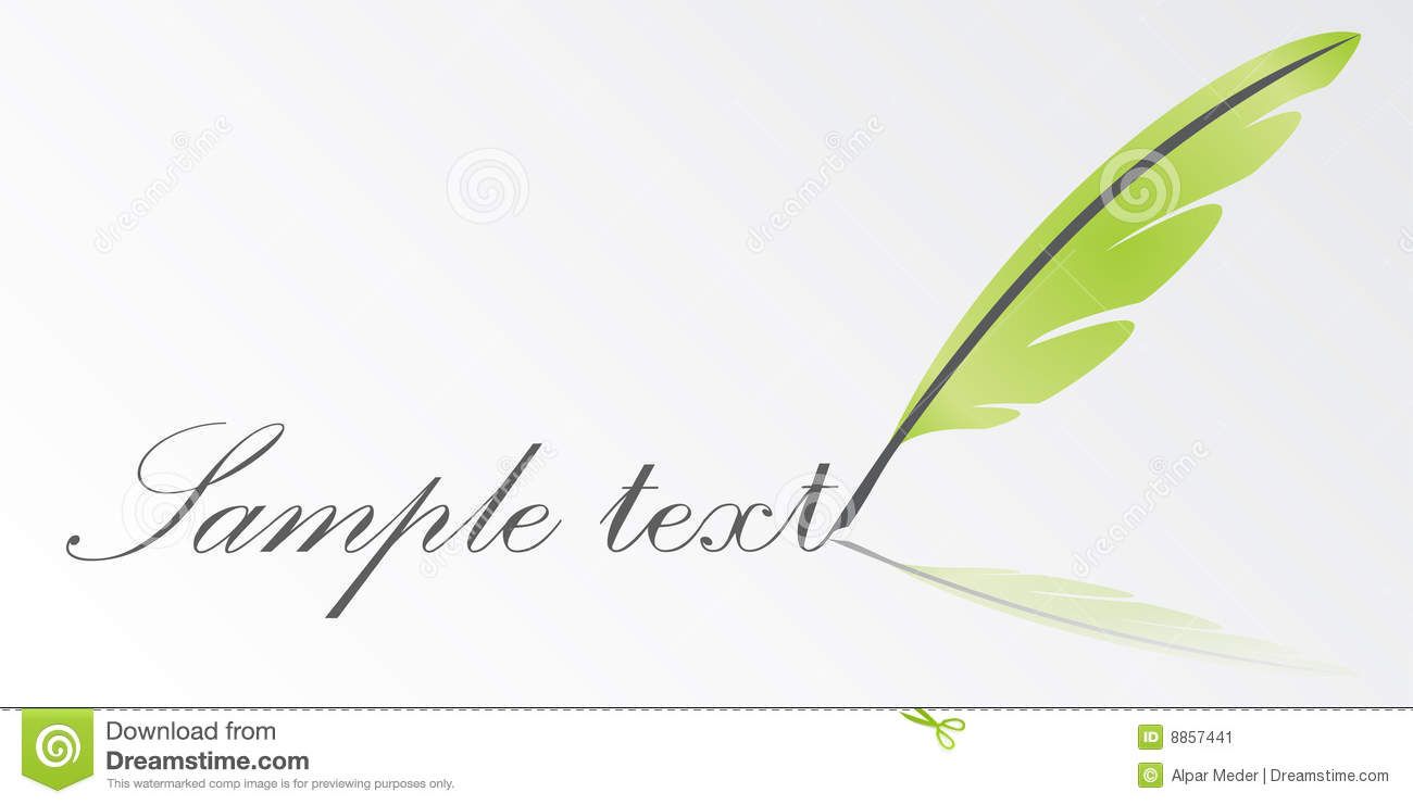 Vector Writing Feather Stock Image - Image: 8857441