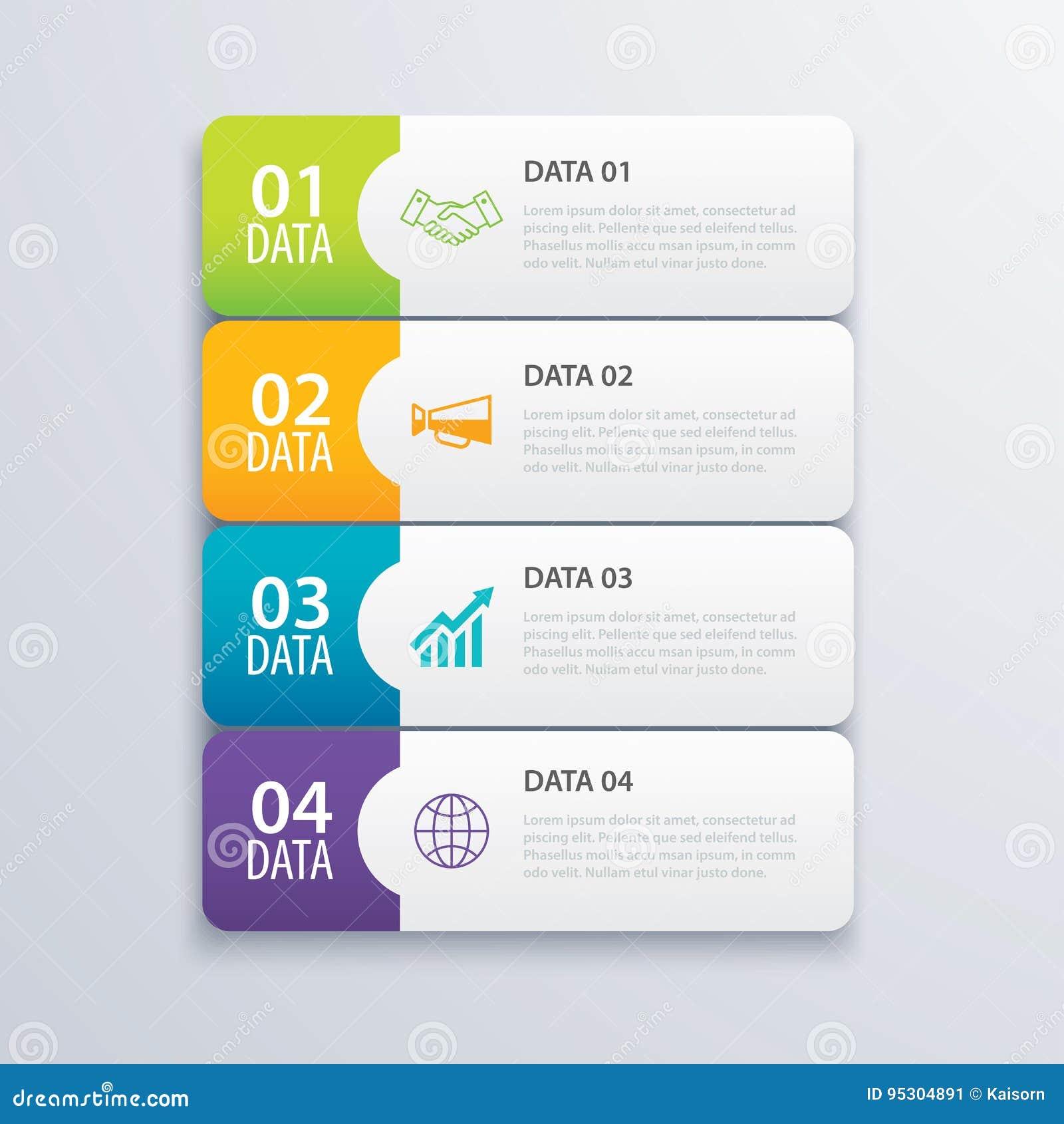 Vector Y Márketing Infographic Del Diseño De La Bandera Del índice ...