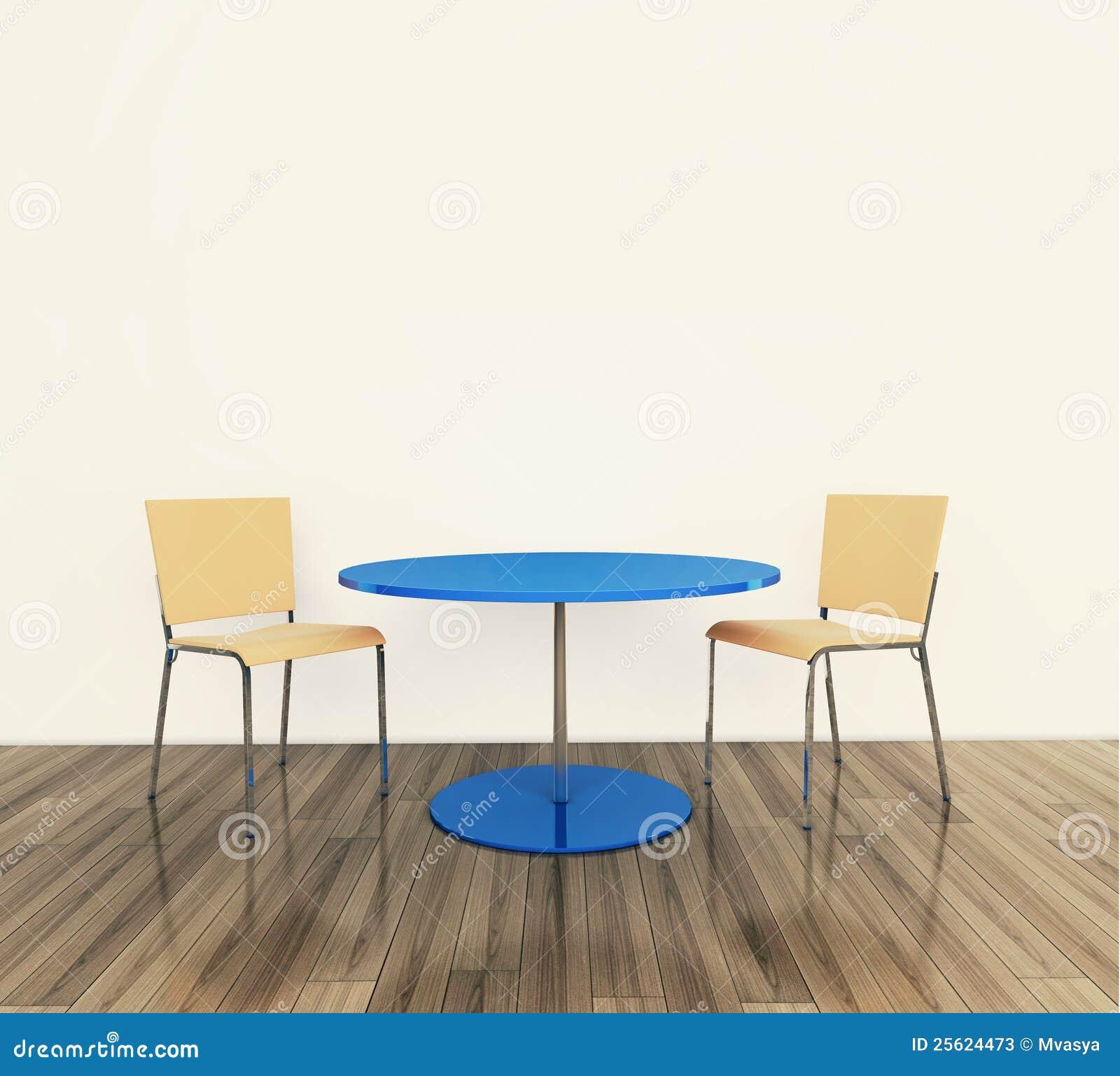 Vector y sillas interiores modernos