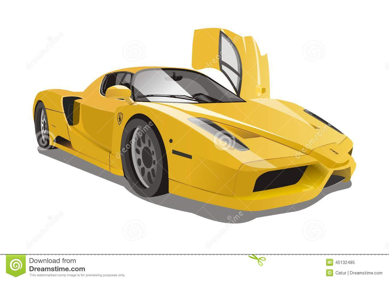 Sports car outline free vector download 9069 Free vector