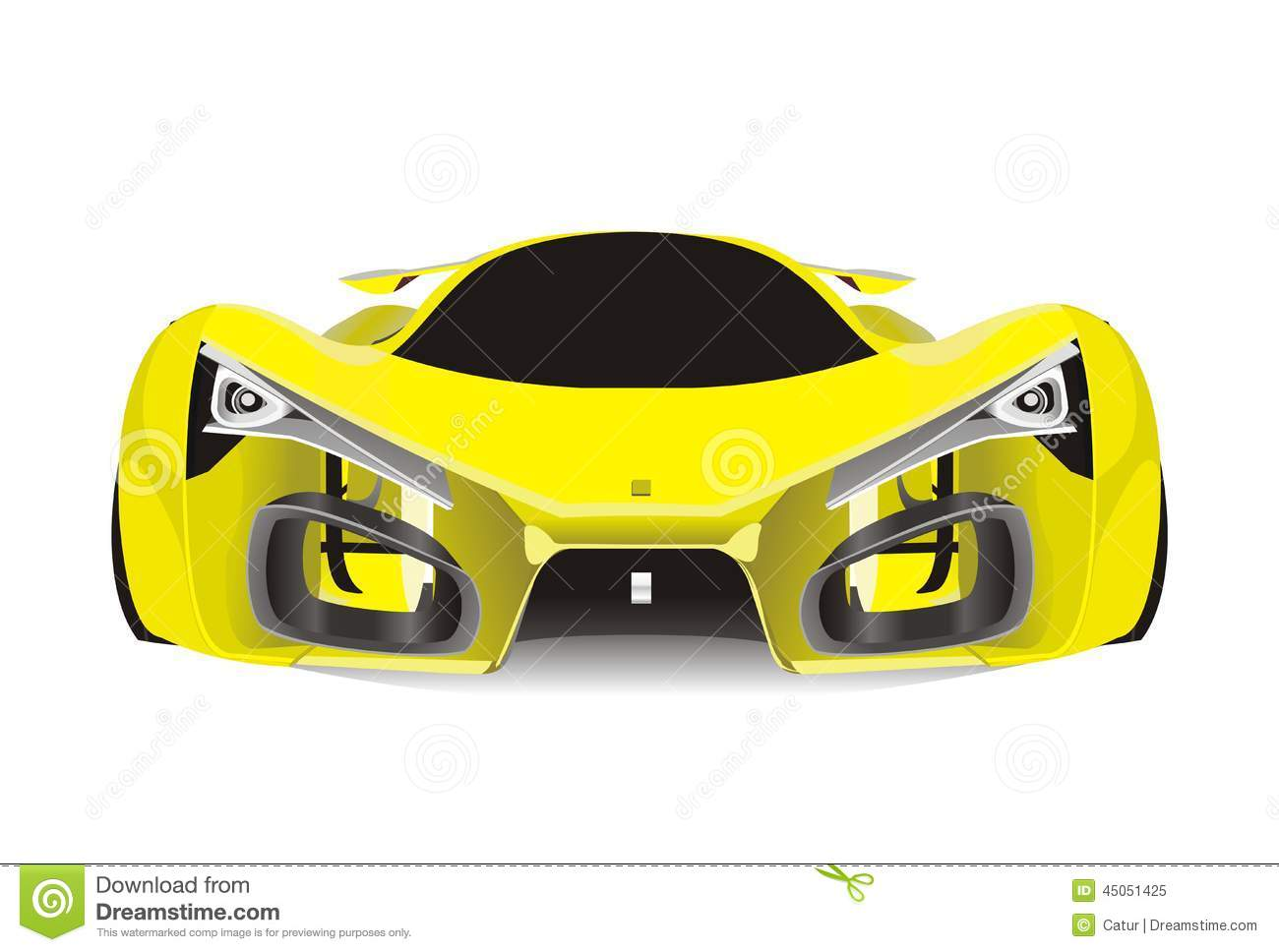 Vector Of Yellow Ferrari F80 Sport Car Stock Vector