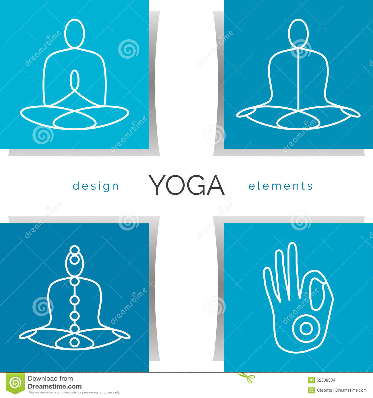 Poster design yoga - Royalty Free Vector