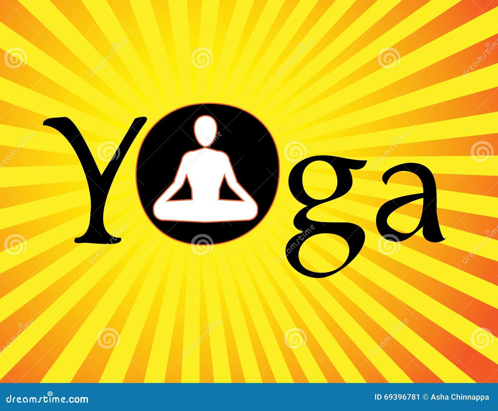 Vector Yoga Logo Symbol Man Performing In Lotus Position Asana Meditation Illustration 69396781