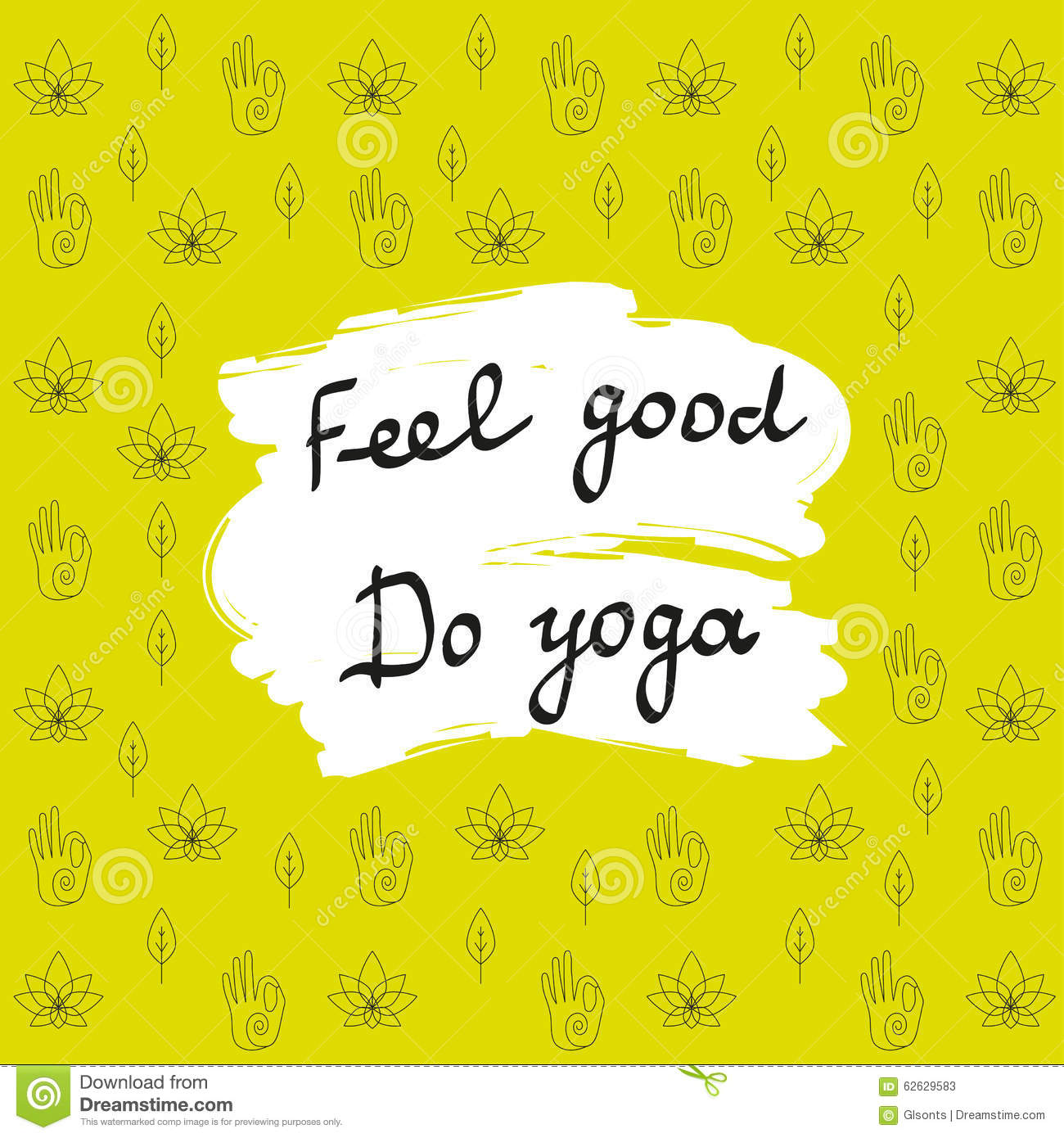 Poster design yoga - Vector Yoga Yoga Poster With Hand Drawn Typography Banner Design With Calligraphic Font For Yoga Studio Yoga Center Or Class C
