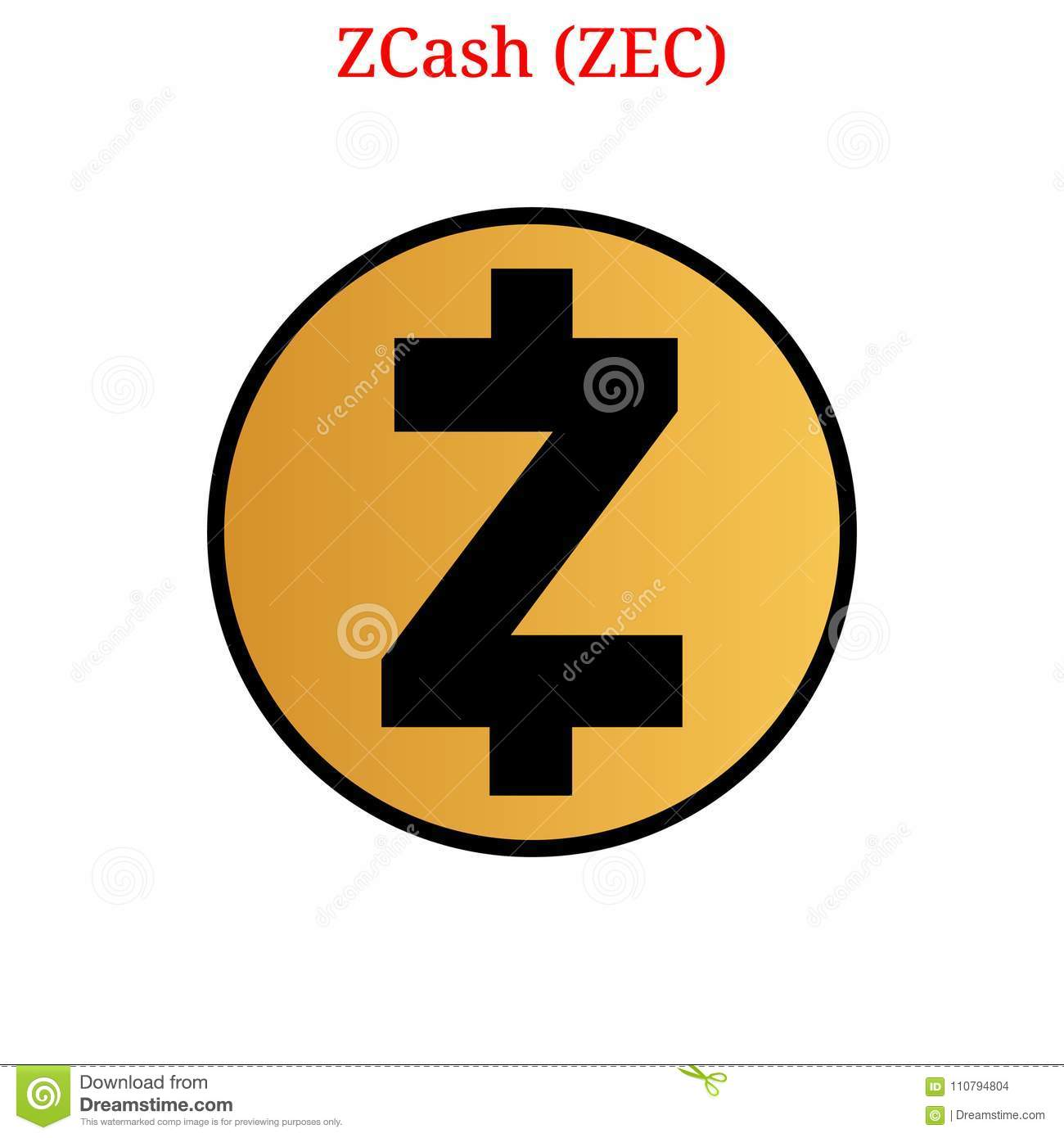 Vector Zcash ZEC Digital Cryptocurrency Logo Icon Illustration Isolated On White Background