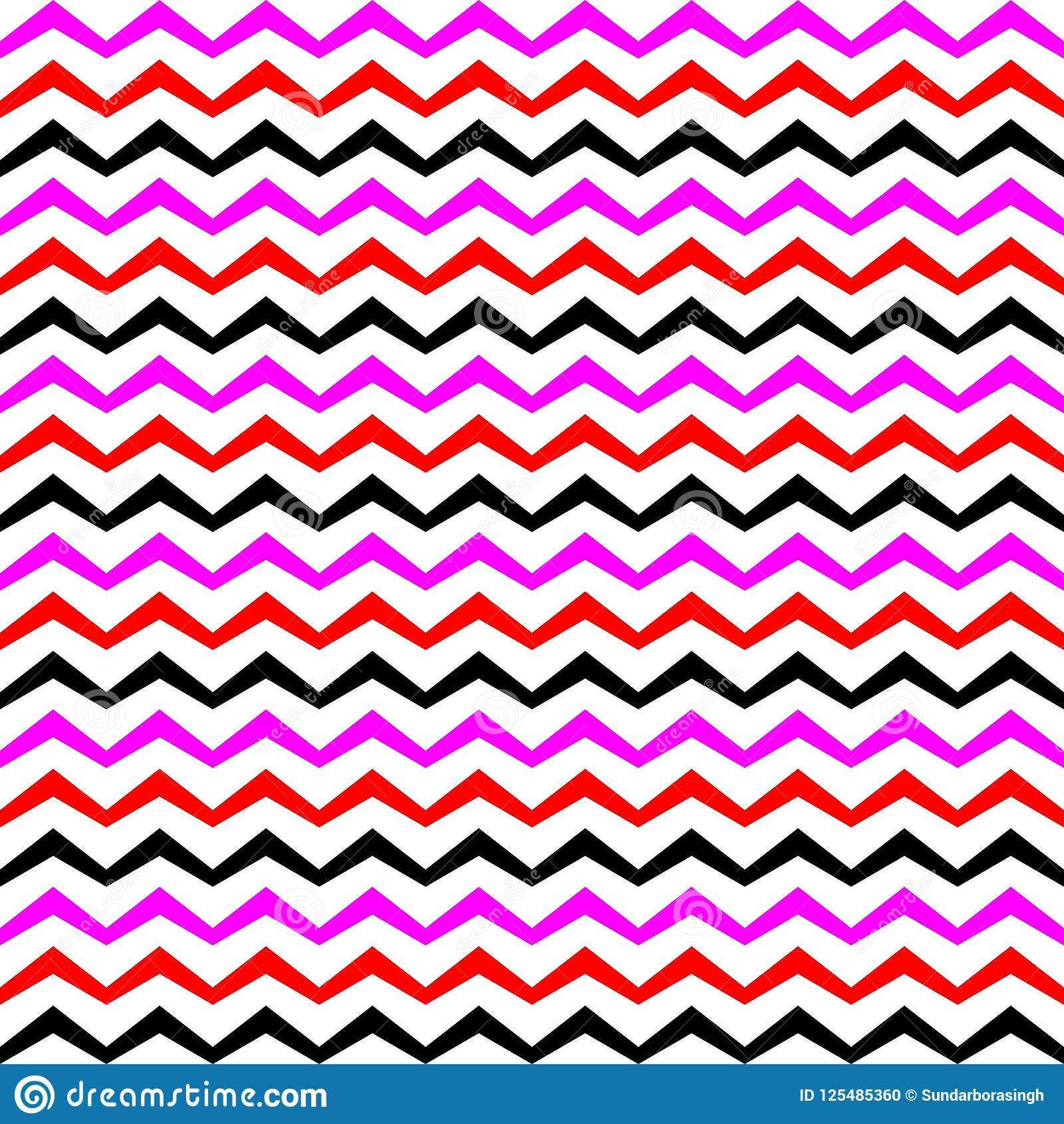 Vector zigzag multicolourd seamless pattern curved wavy for Design stuhl zig zag