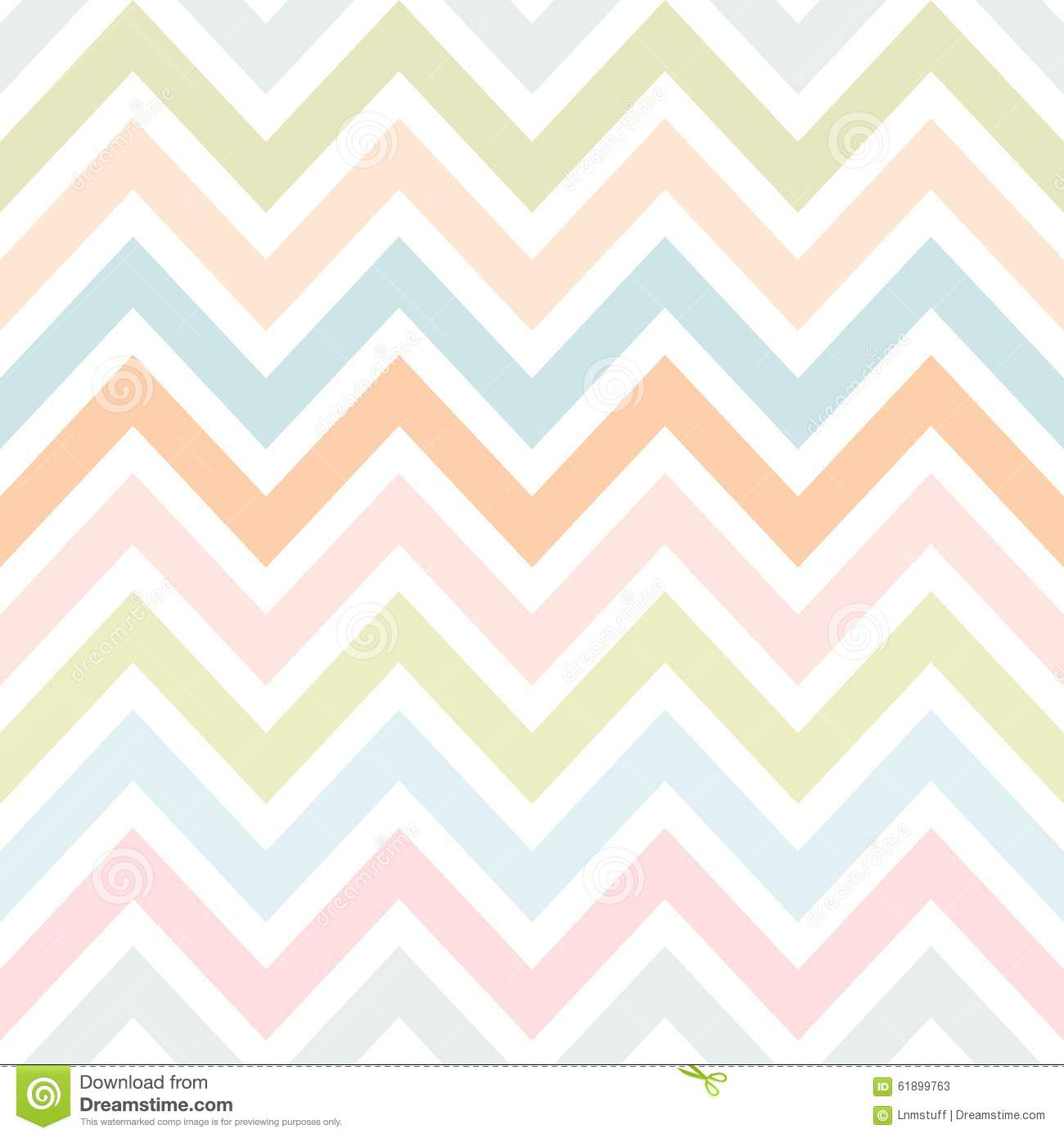 Vector Zigzag Seamless Pattern Stock Vector Illustration