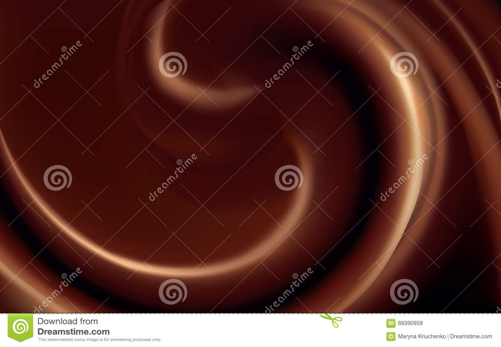 Vectorachtergrond van wervelende donkere chocoladetextuur
