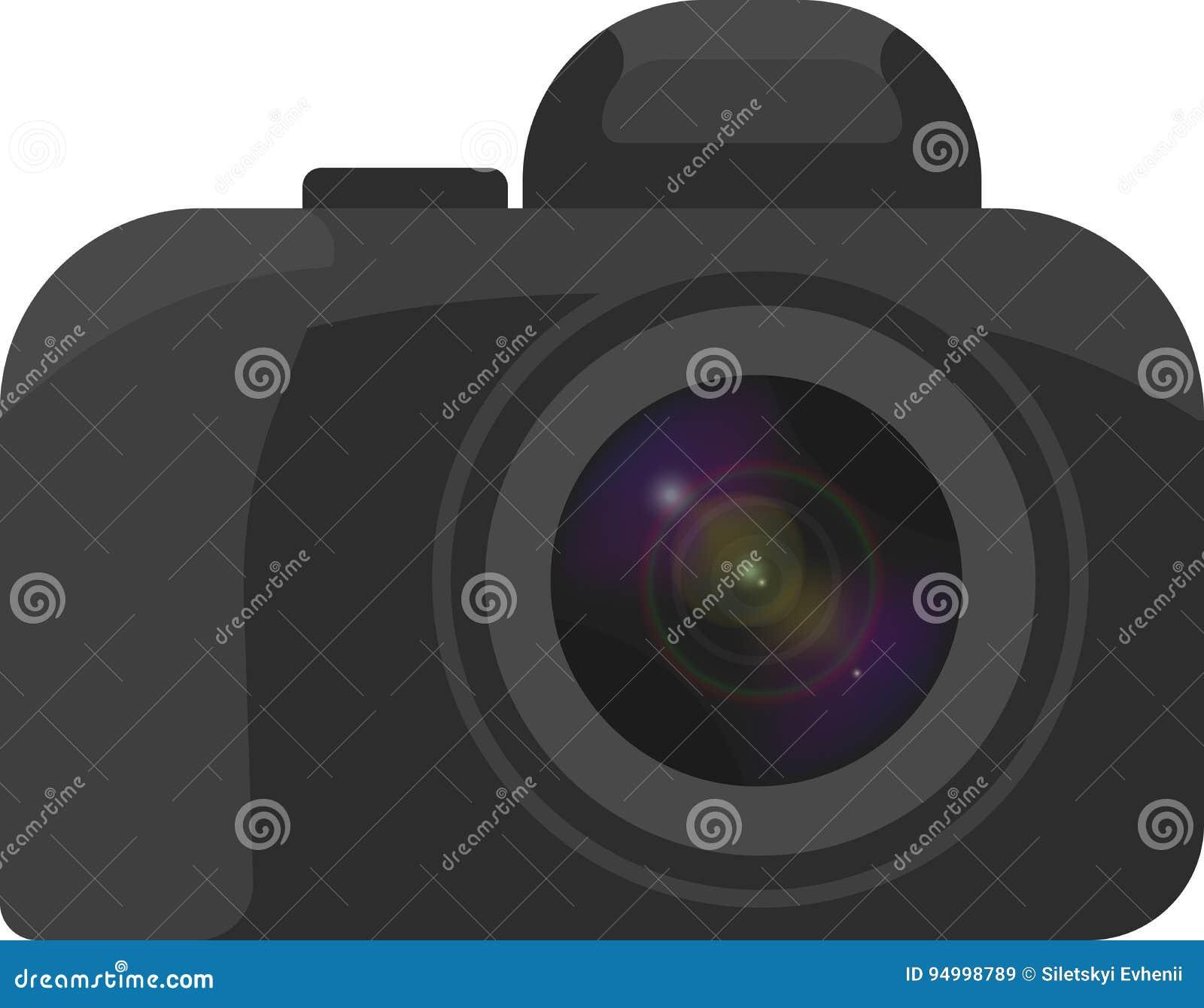 Vectorbeeld van de camera met een minimum details