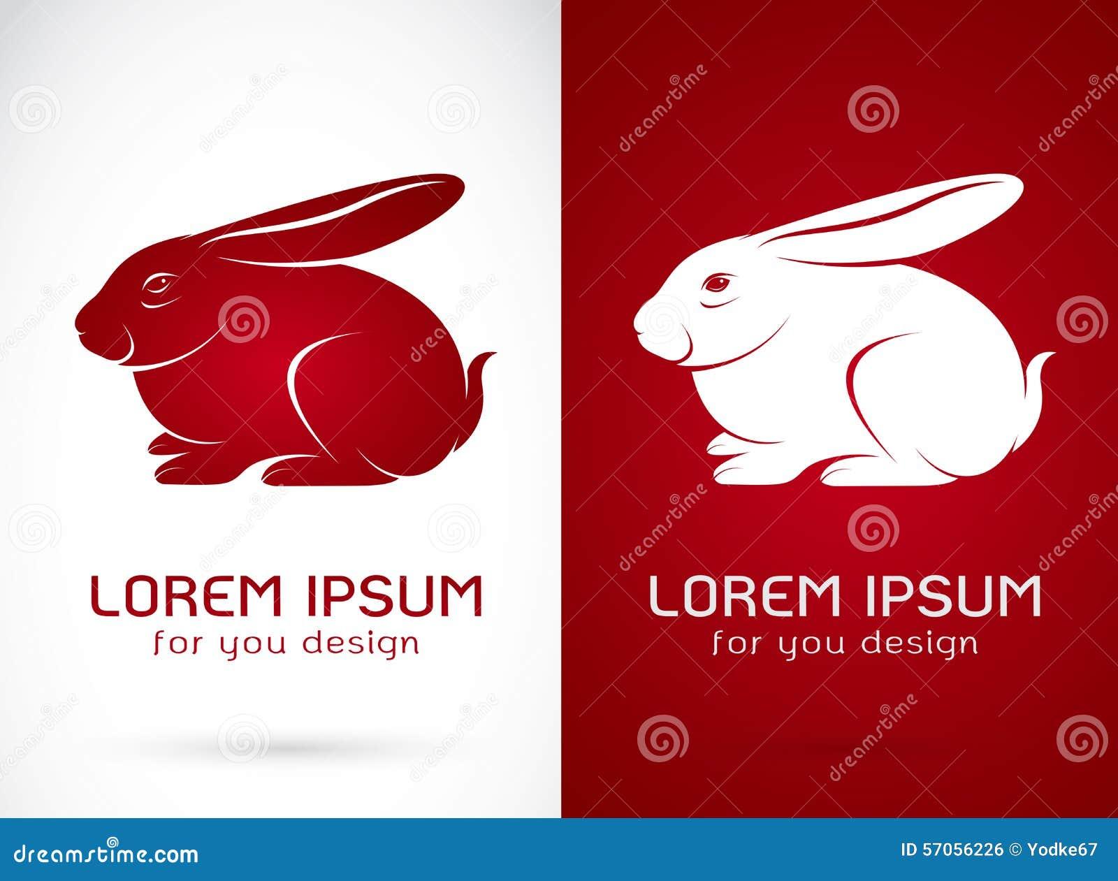 Vectorbeeld van een konijnontwerp
