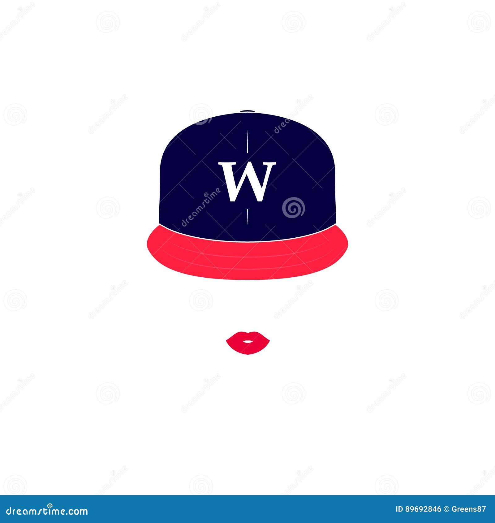 Vectorbeeld van een meisje met honkbal GLB