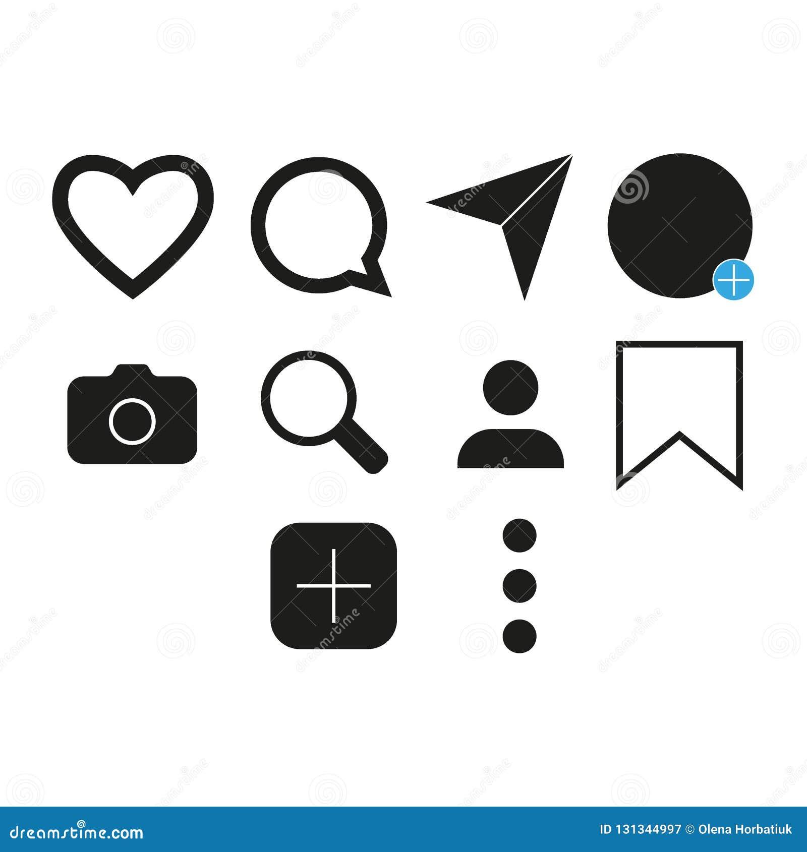Vectorbeeld van reeks Internet-pictogrammen