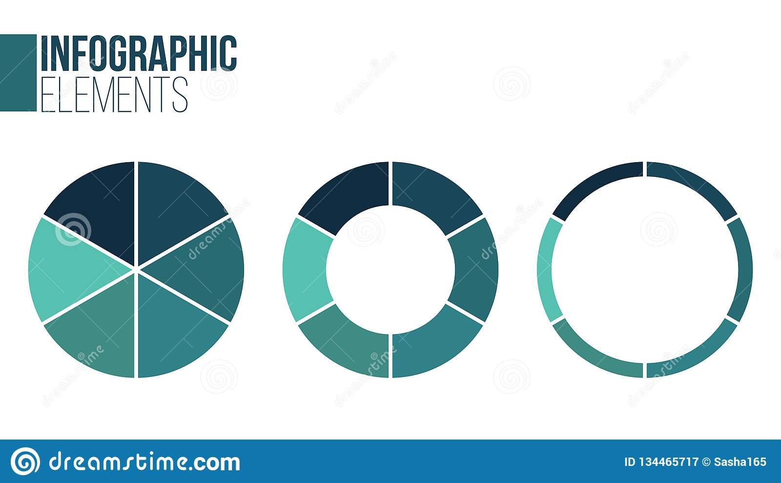 Vectorcirkel infographic reeks Malplaatje voor cyclusdiagram, grafiek, presentatie en ronde grafiek Bedrijfsconcept met 6 opties,