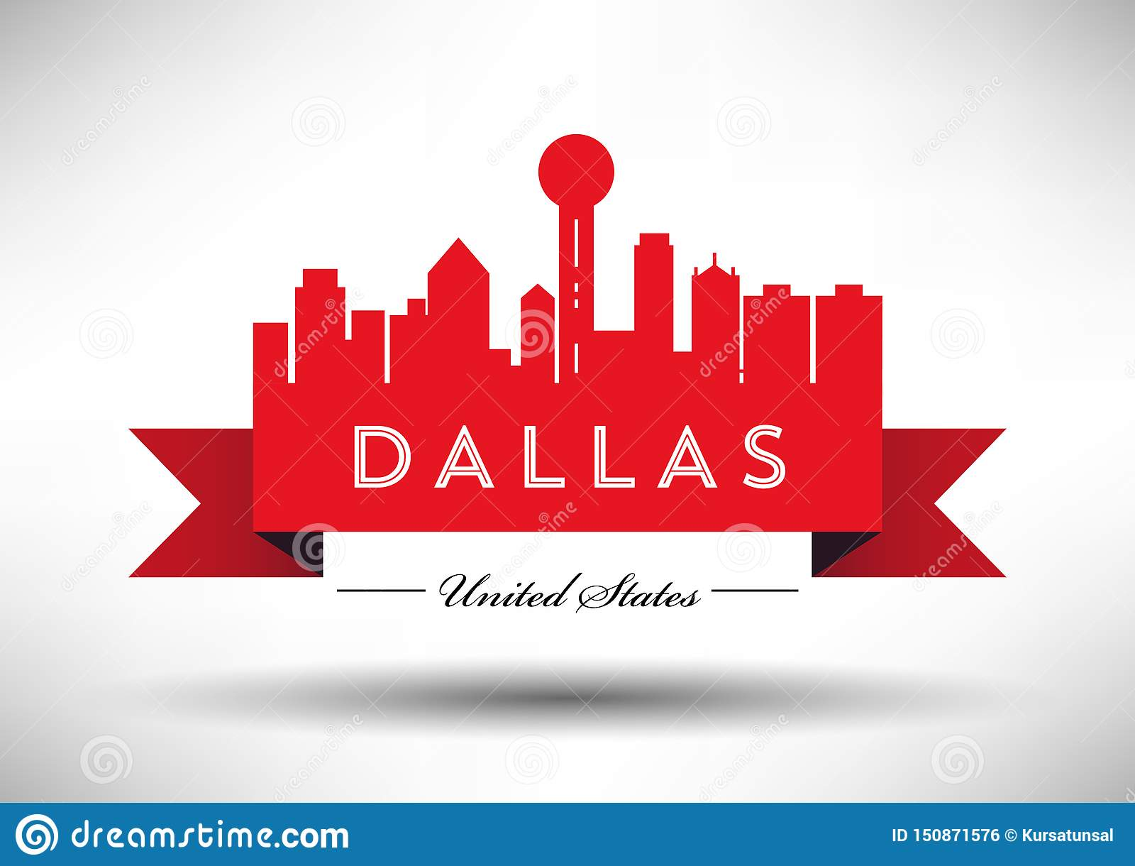 Vectordallas city skyline design