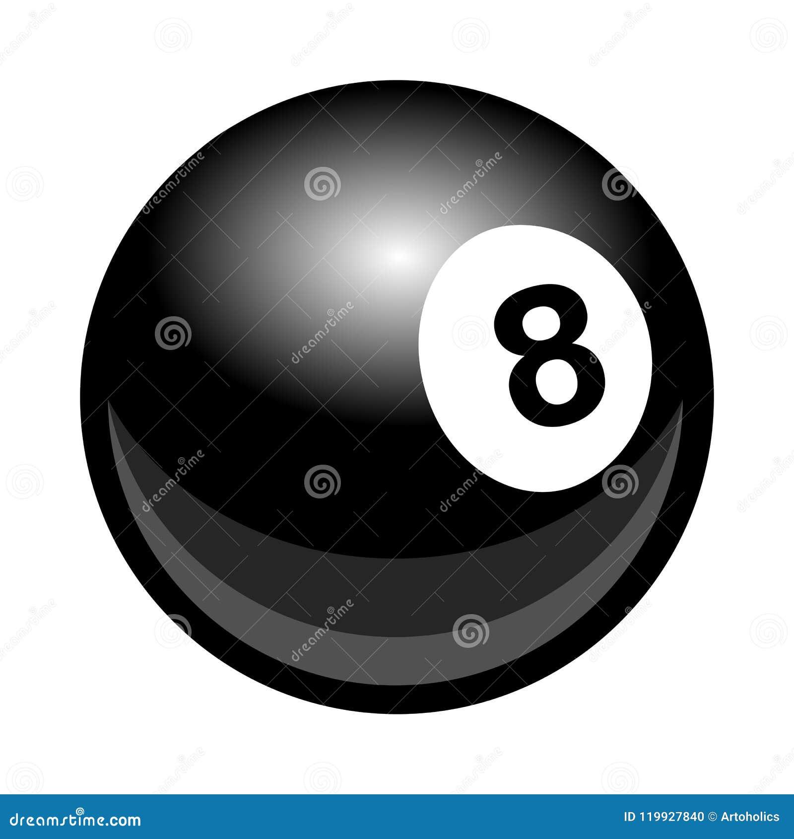 Vectordie de pool8ball illustratie van de biljartsnooker op whi wordt geïsoleerd