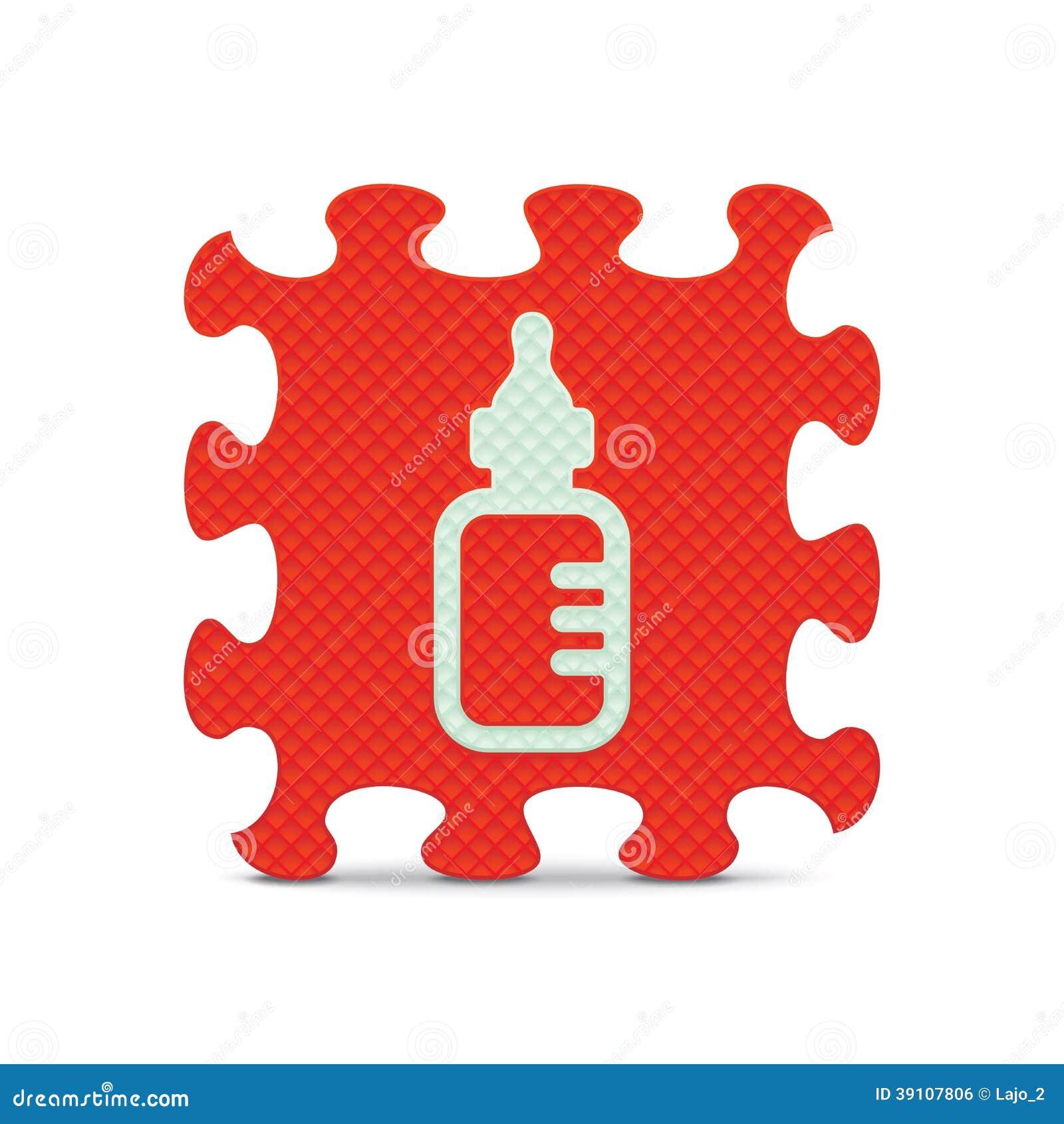 Vectordiebabyteken met alfabetraadsel wordt gemaakt