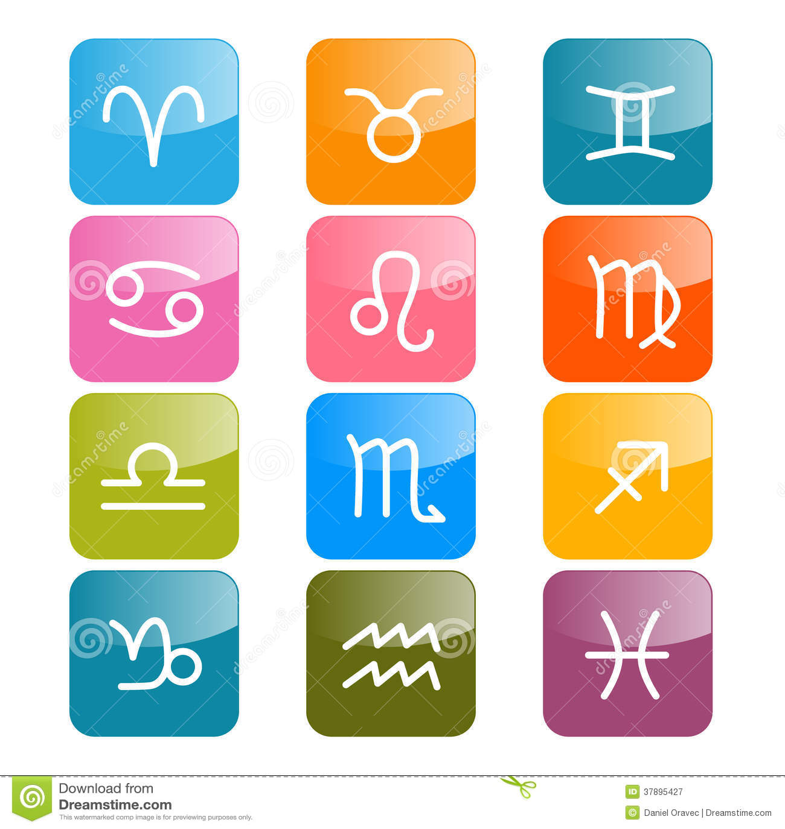 Vectordierenriem, Horoscooppictogrammen
