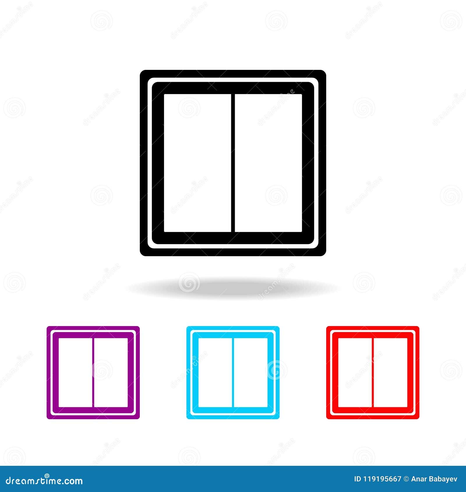 Vectoreps 10 Elementen van elektriciteit in multi gekleurde pictogrammen Grafisch het ontwerppictogram van de premiekwaliteit Een