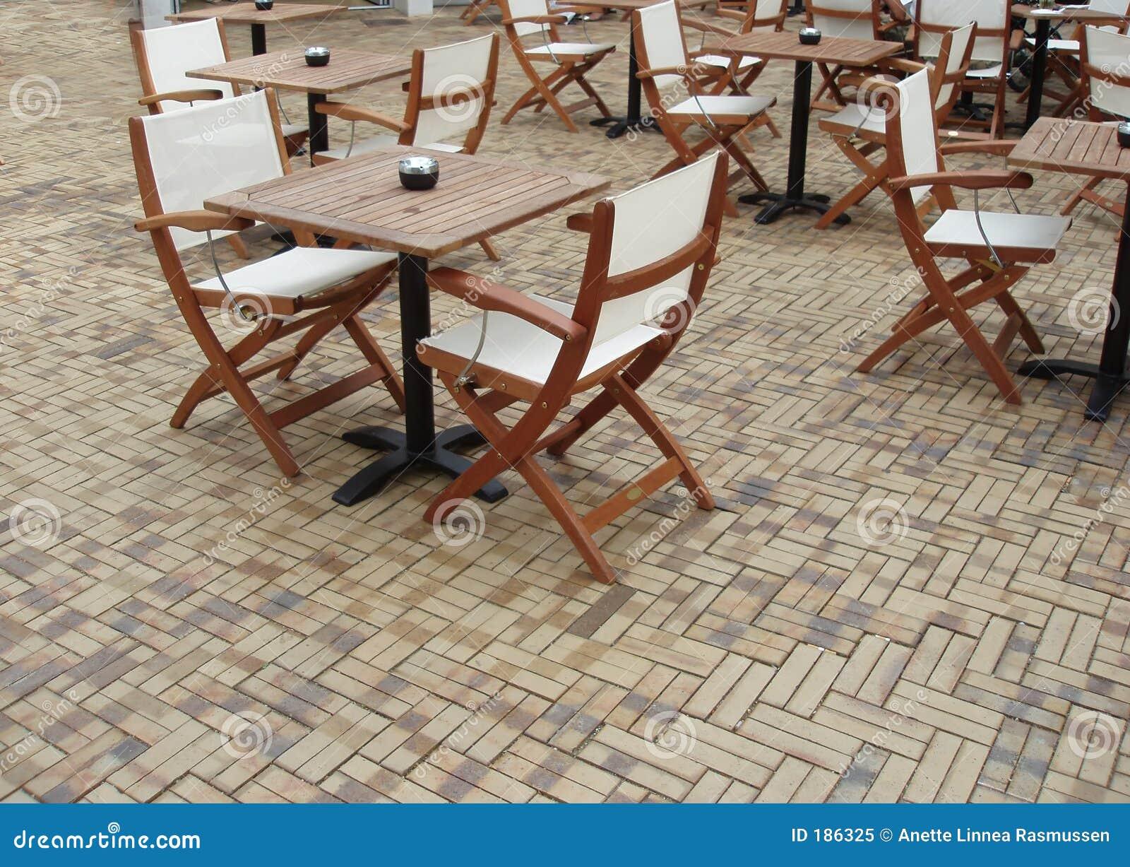 Vectores y sillas de Café