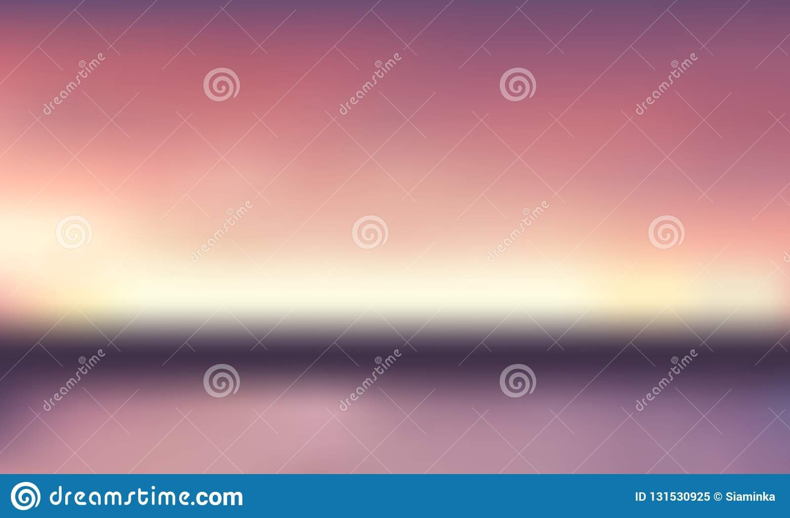 Vectorgradiënt vage achtergrond Natuurlijke kleur Horizonlijn