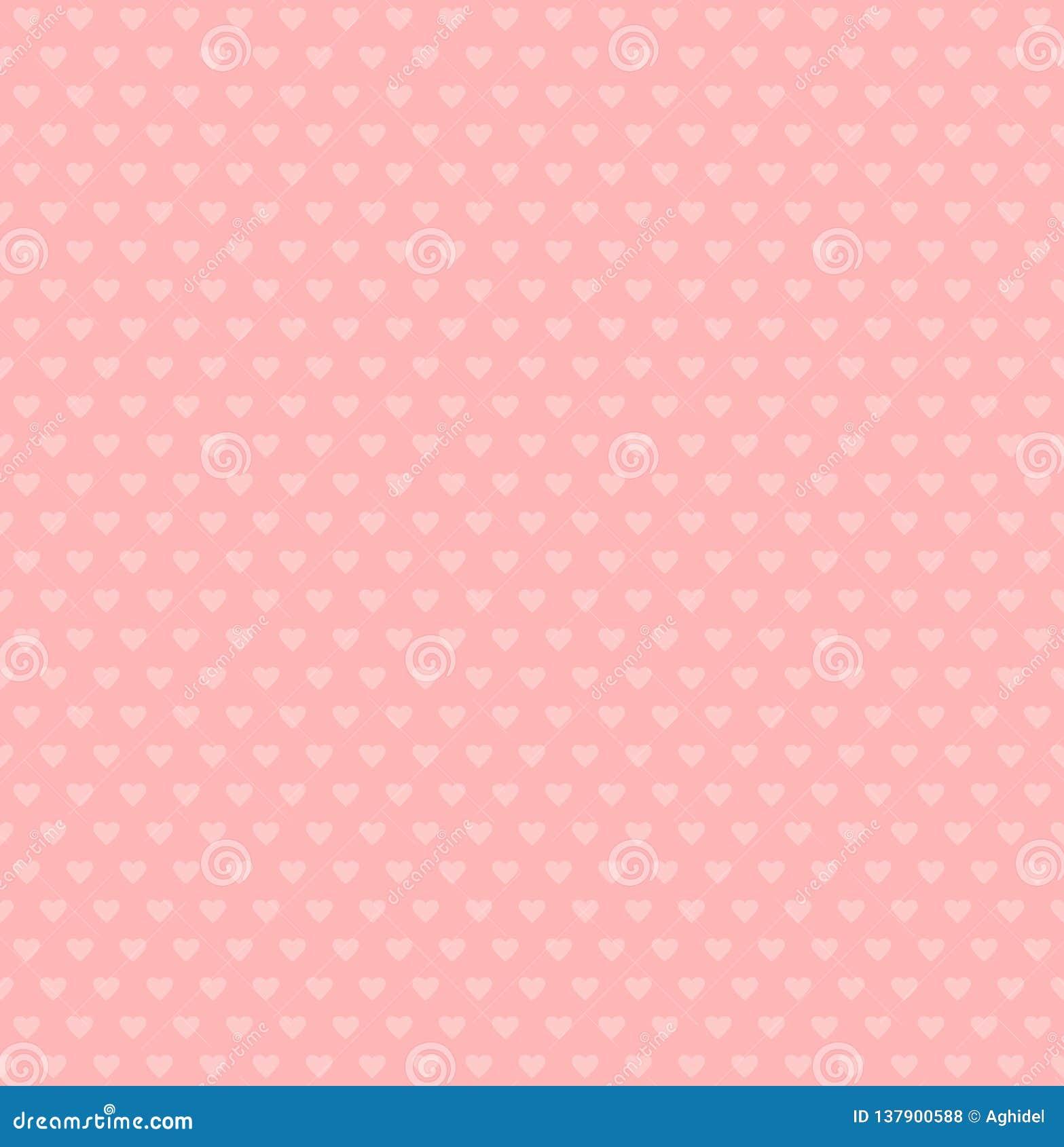 Vectorhartenvormen eenvoudige roze achtergrond Het naadloze patroon van valentijnskaarten Huwelijkstextuur