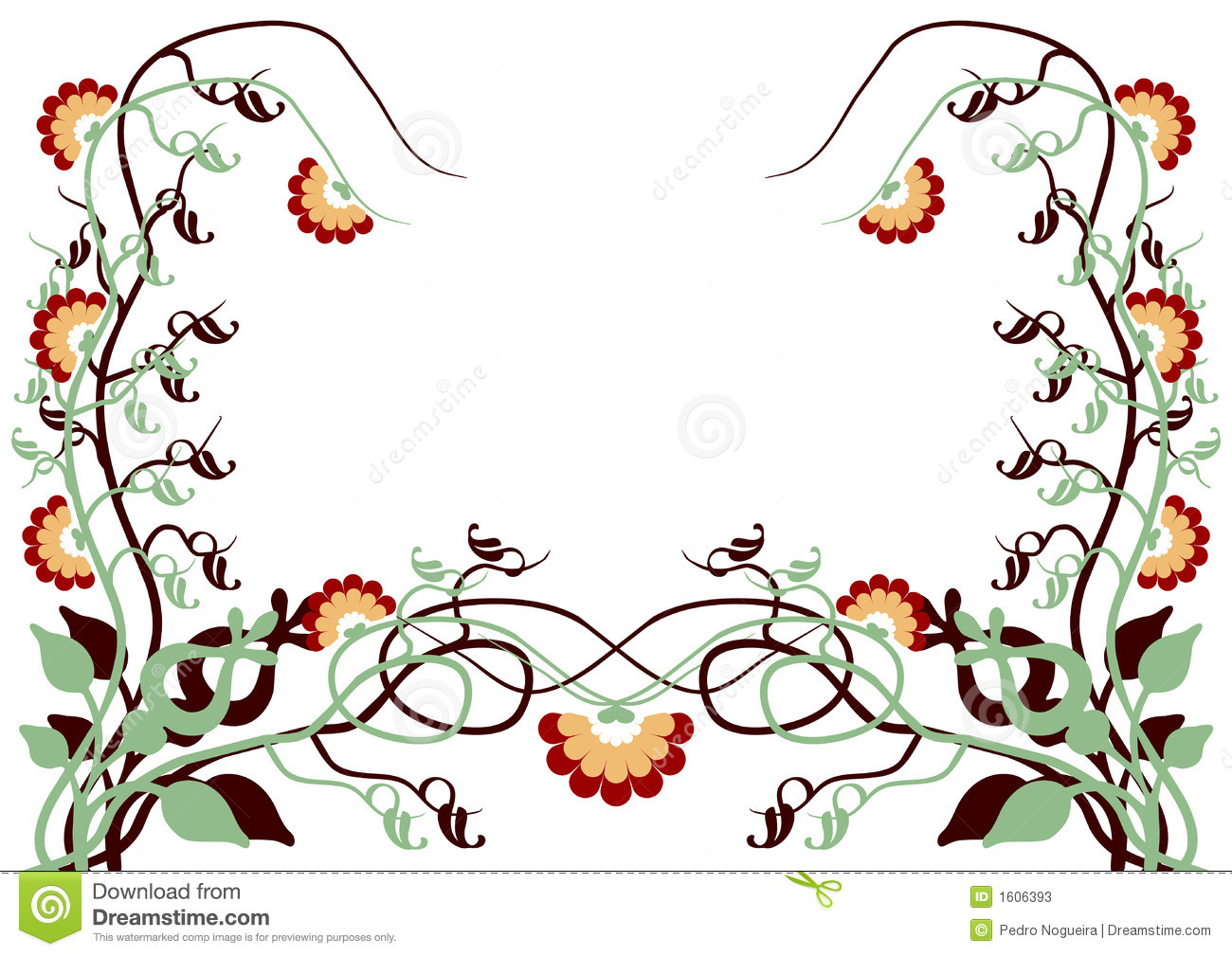 Vectorial Flower Pattern Stock Photos Image 1606393