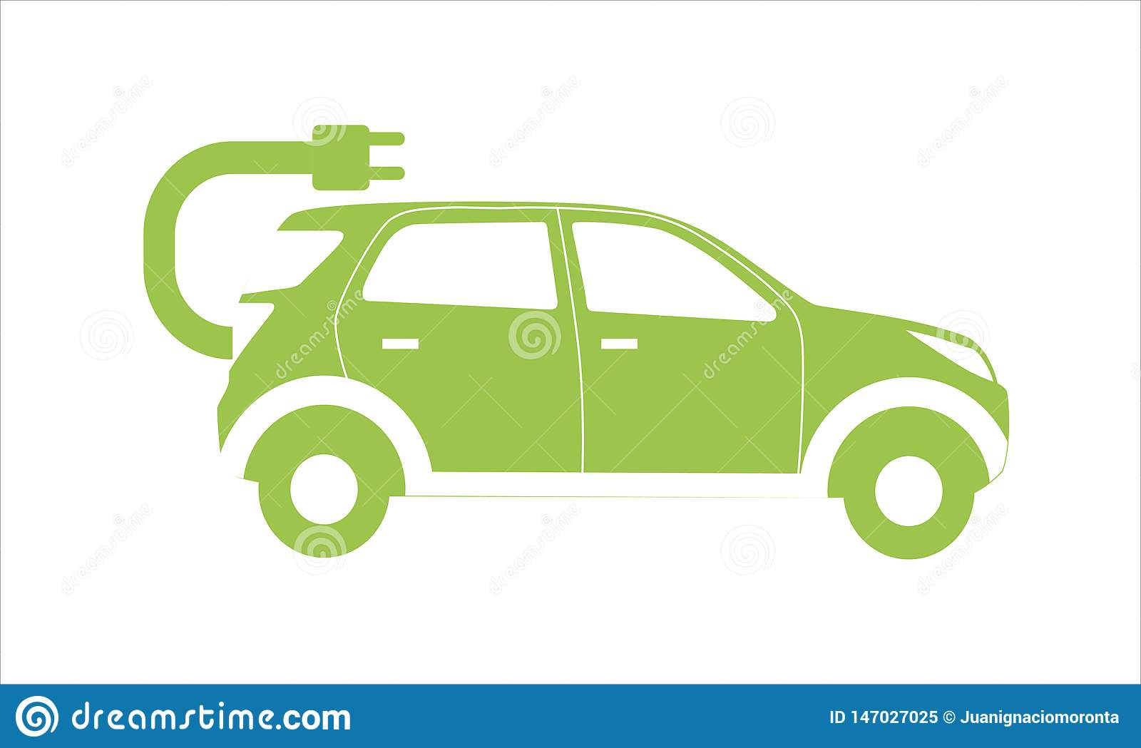 Vectorial icon of electric car