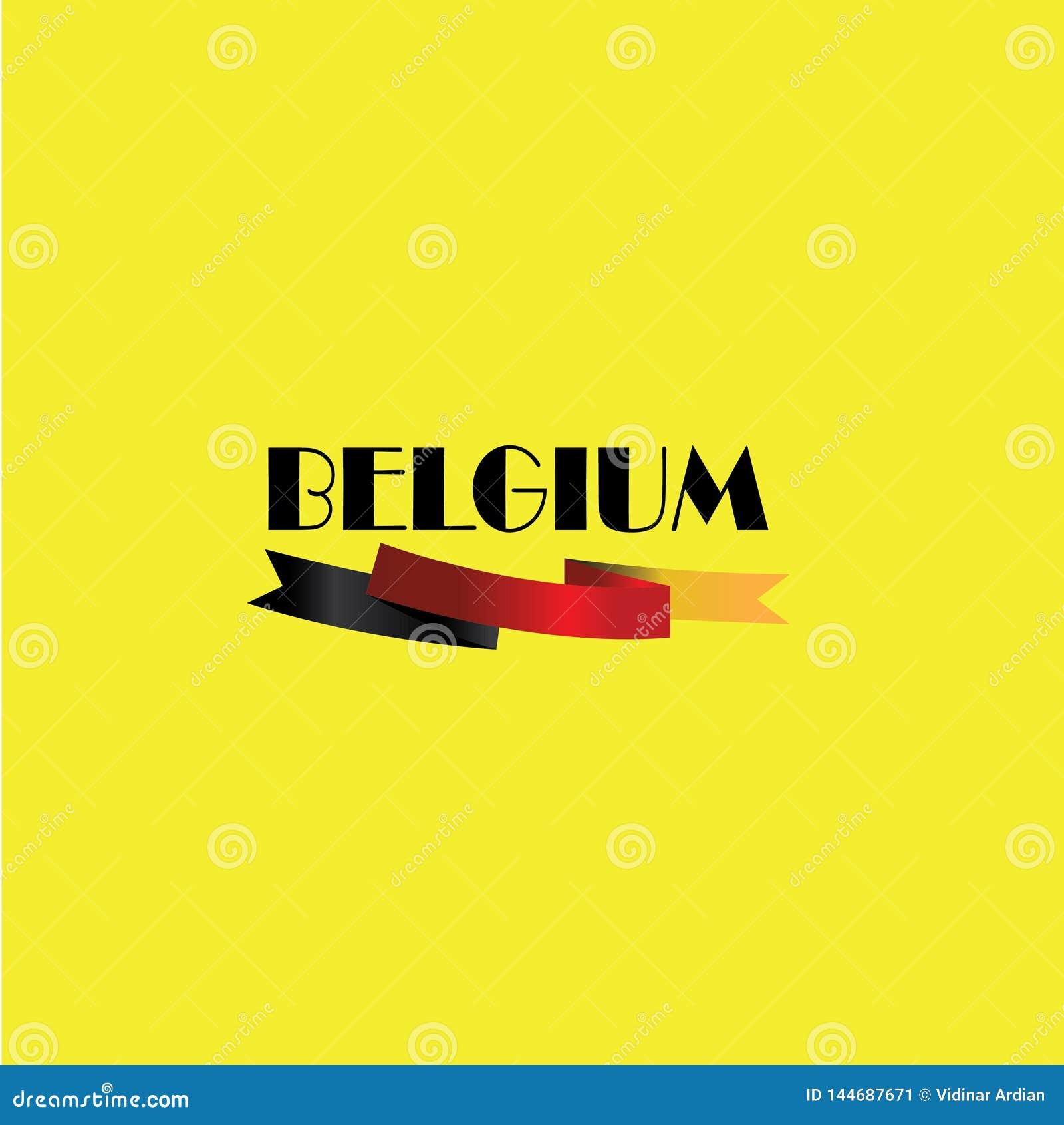 Vectorillustratie, banner of affiche voor onafhankelijkheidsdag van Belgi?